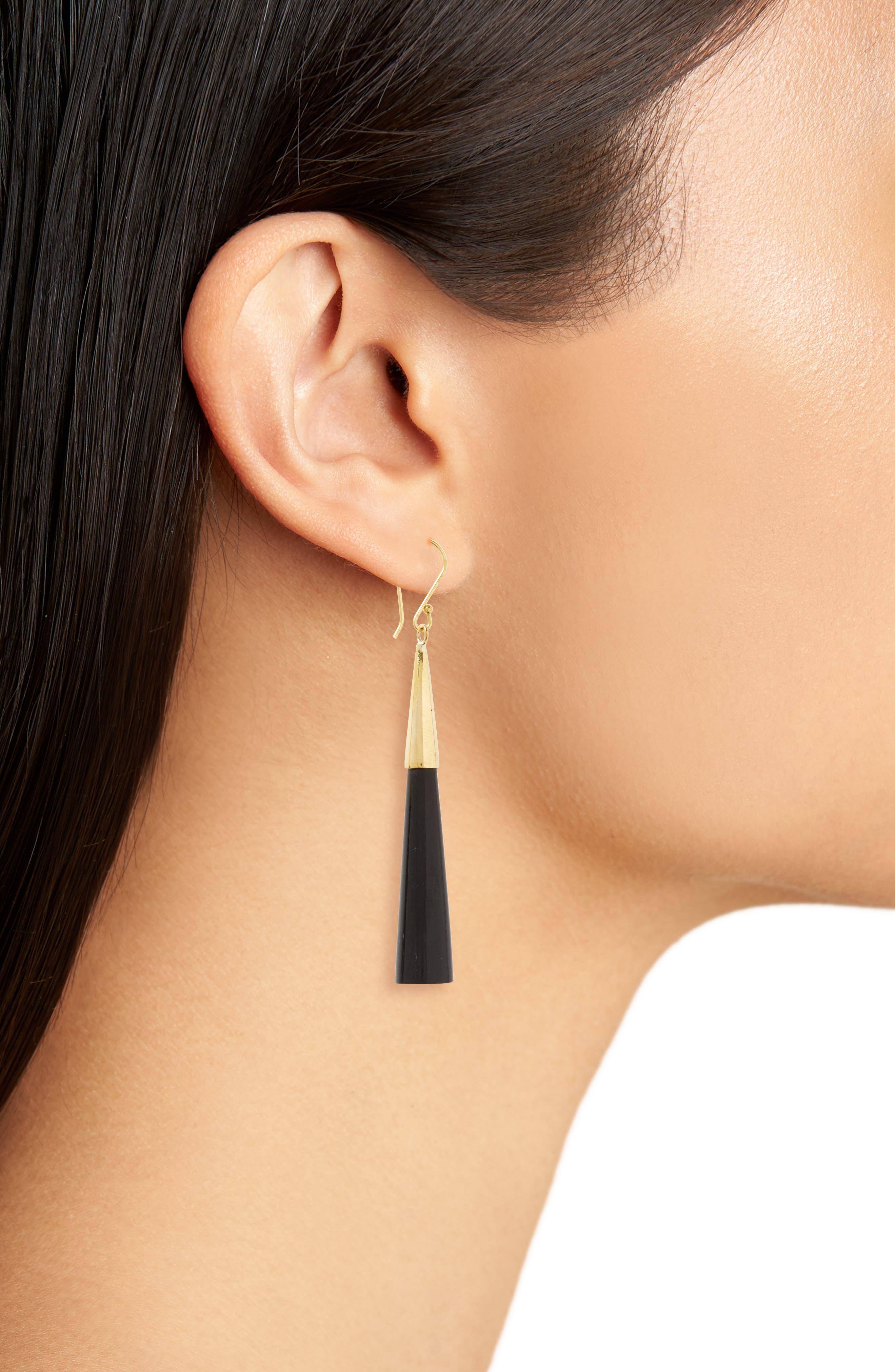 Pia Linear Earrings,                             Alternate thumbnail 2, color,                             001