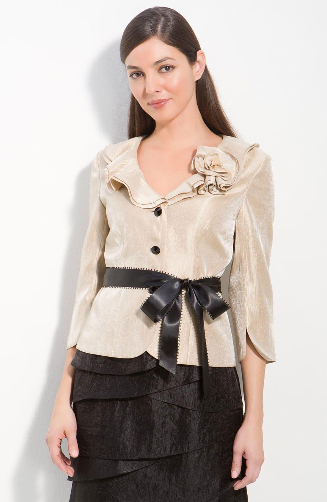 Shimmer Crepe Jacket,                         Main,                         color,