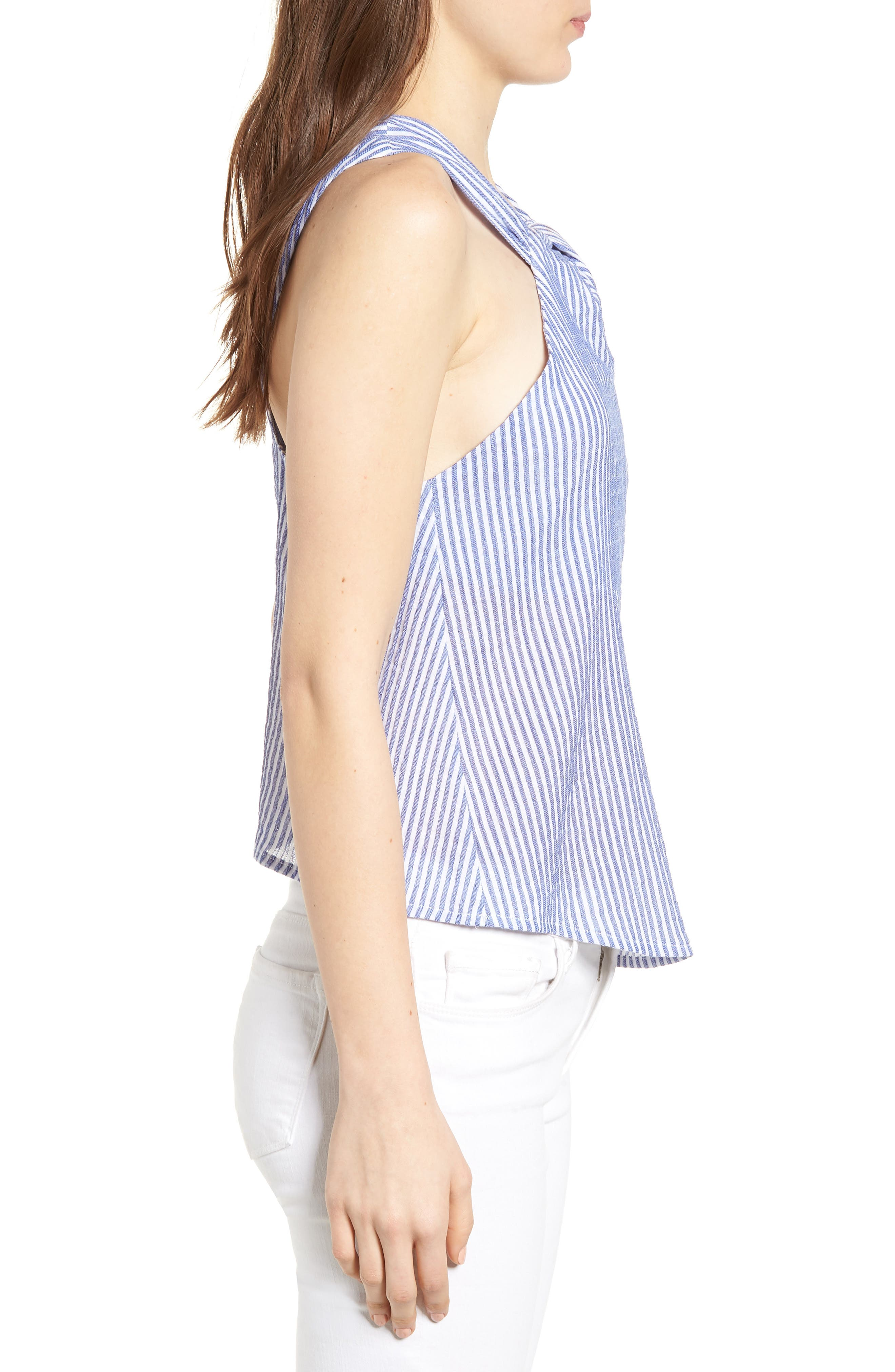 Bishop + Young Knot Front Stripe Tank,                             Alternate thumbnail 3, color,                             400