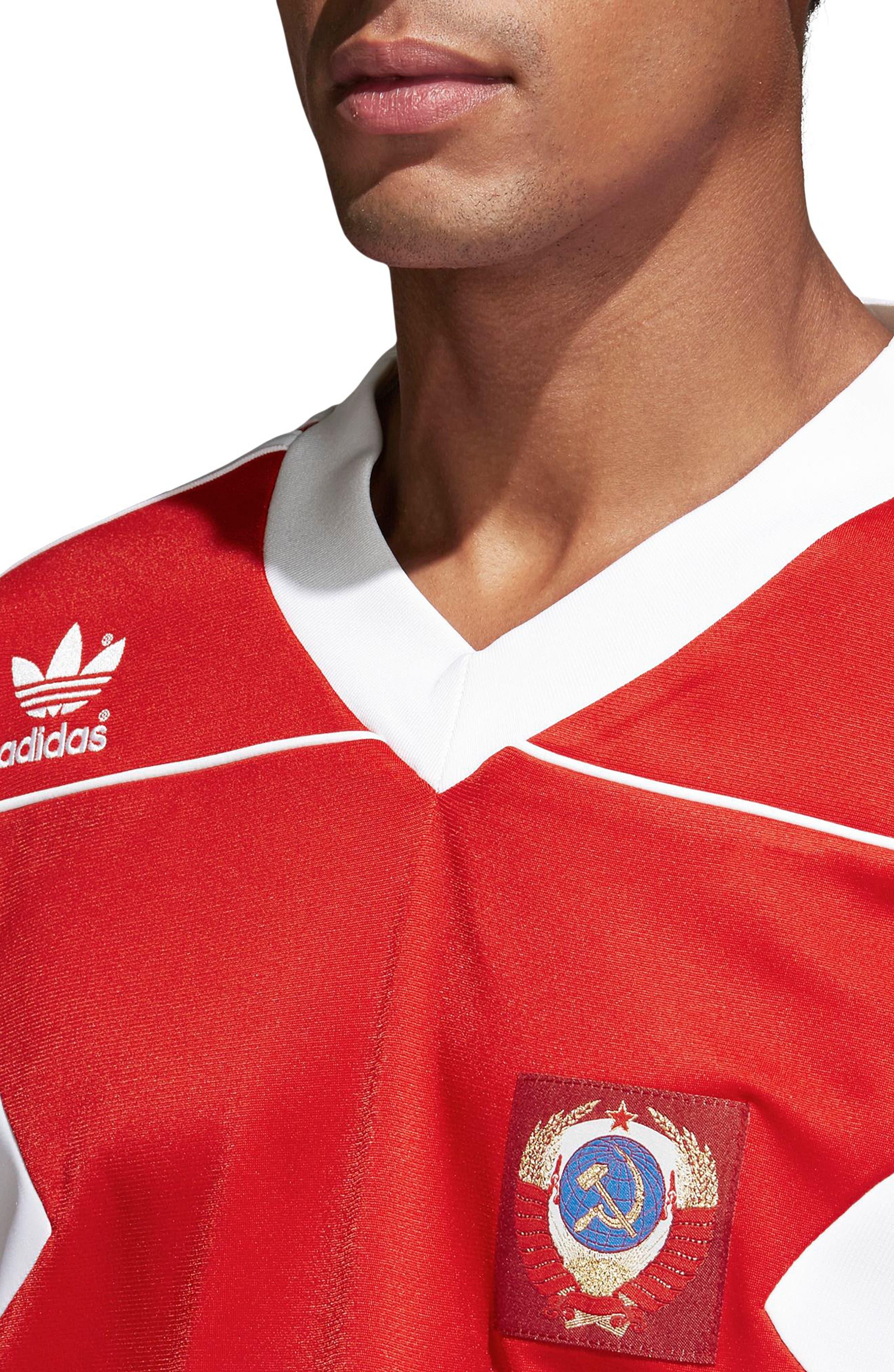 adidas Original Russia 1991 Soccer Jersey,                             Alternate thumbnail 5, color,                             610
