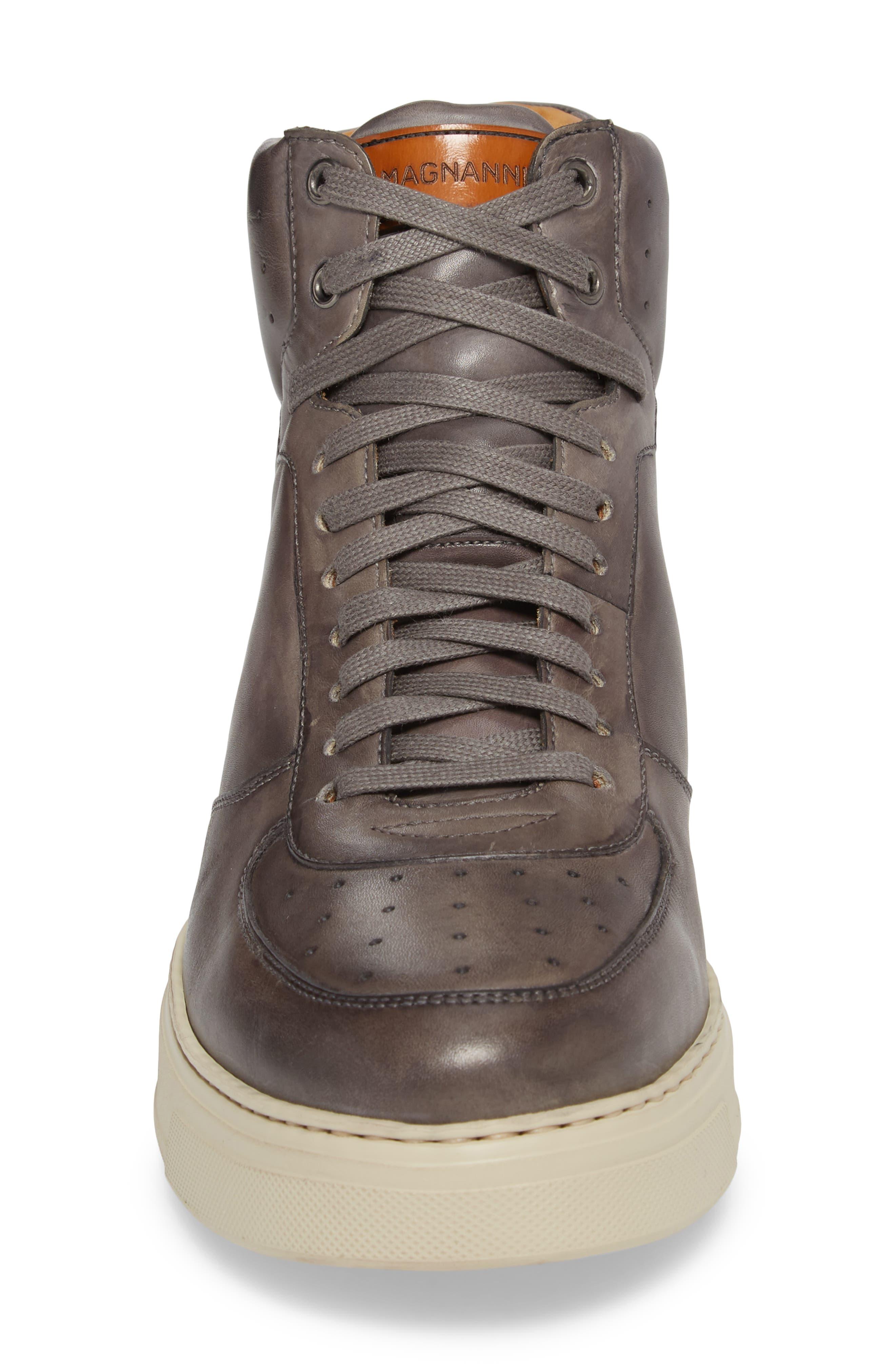 Varro Hi Top Lace Up Sneaker,                             Alternate thumbnail 4, color,                             021