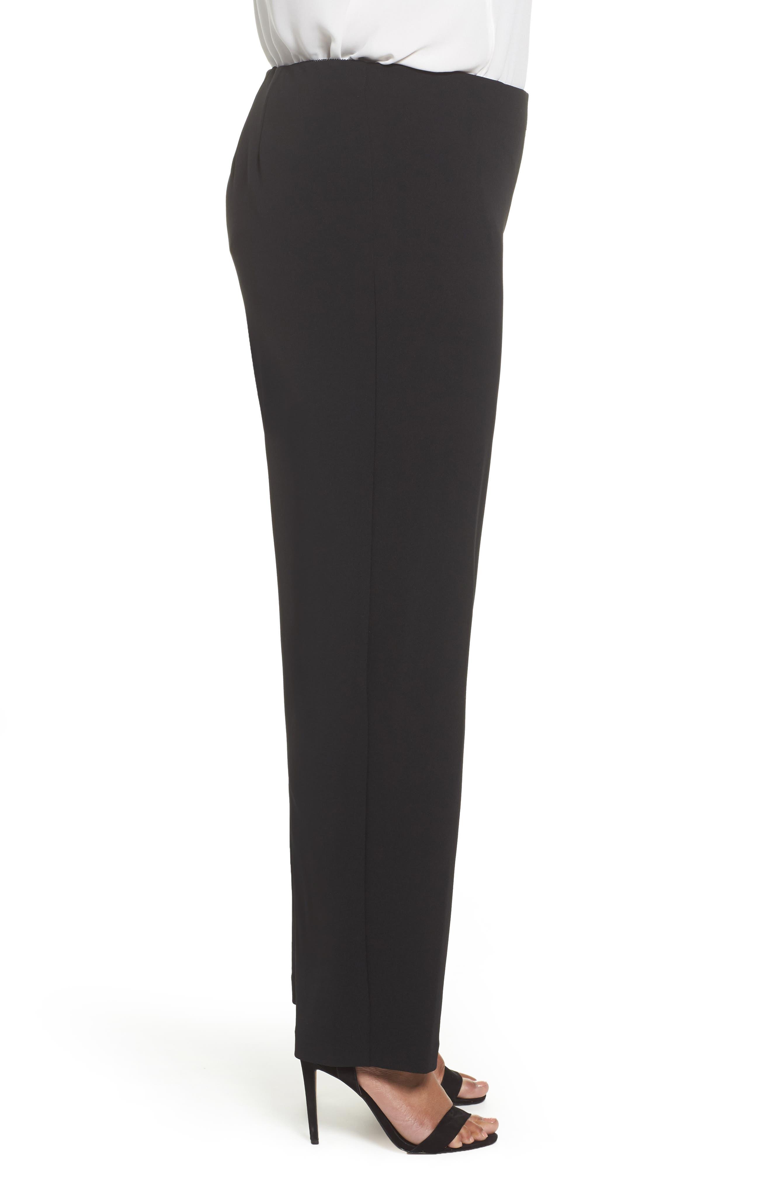 Slim Leg Pants,                             Alternate thumbnail 3, color,                             BLACK