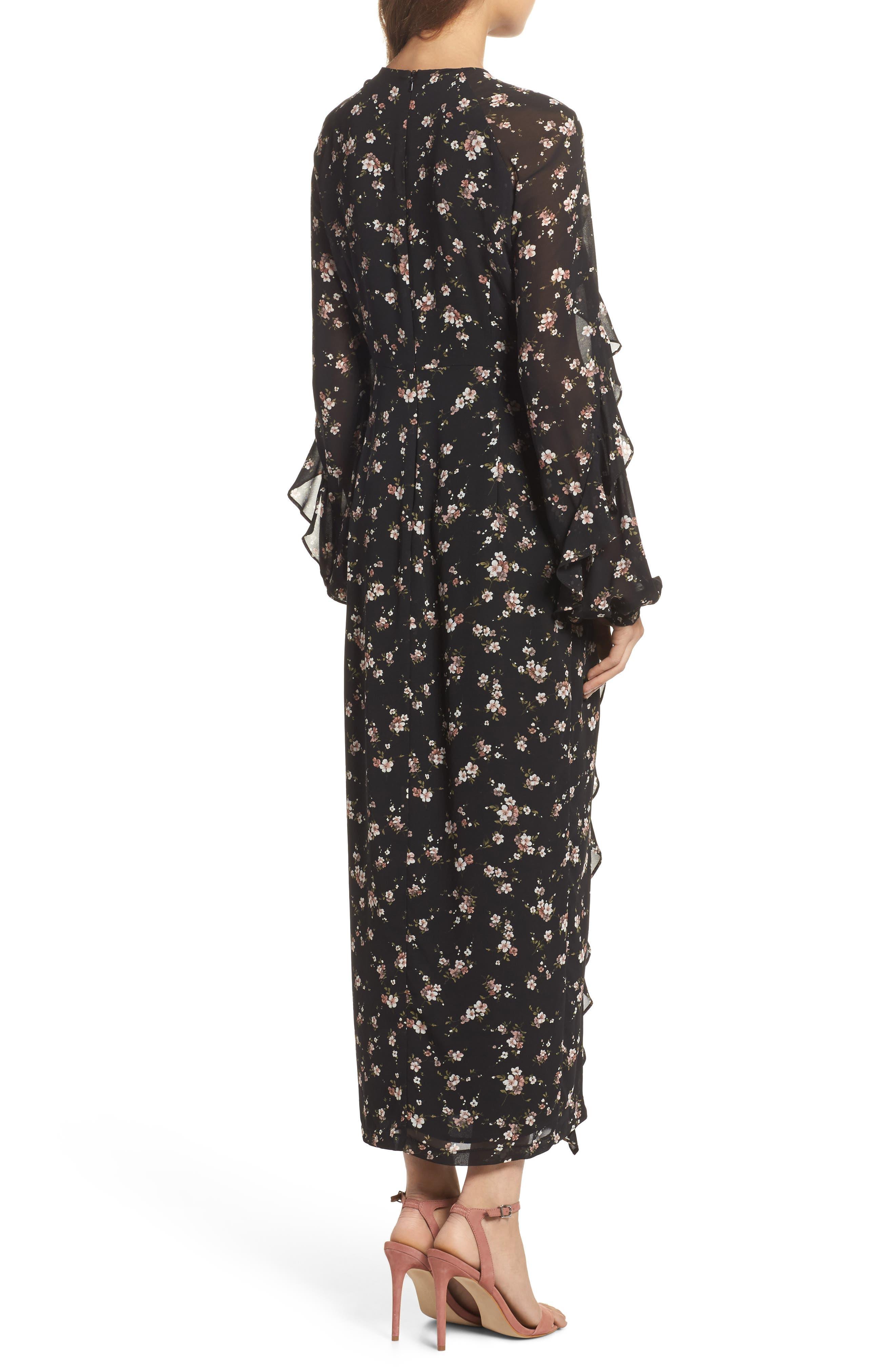 Natalia Midi Dress,                             Alternate thumbnail 2, color,                             005