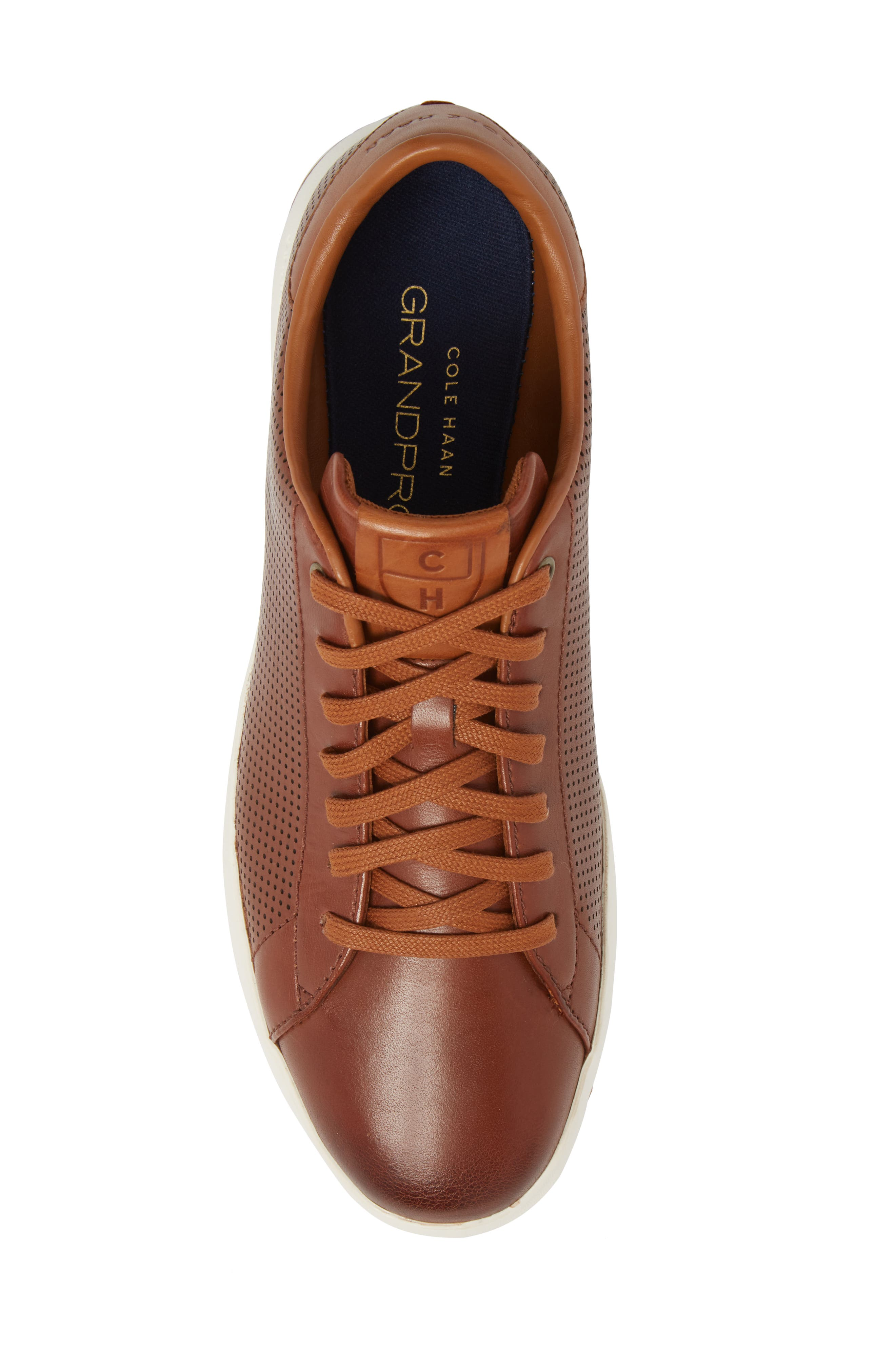 GrandPrø Perforated Low Top Sneaker,                             Alternate thumbnail 5, color,                             WOODBURY LEATHER