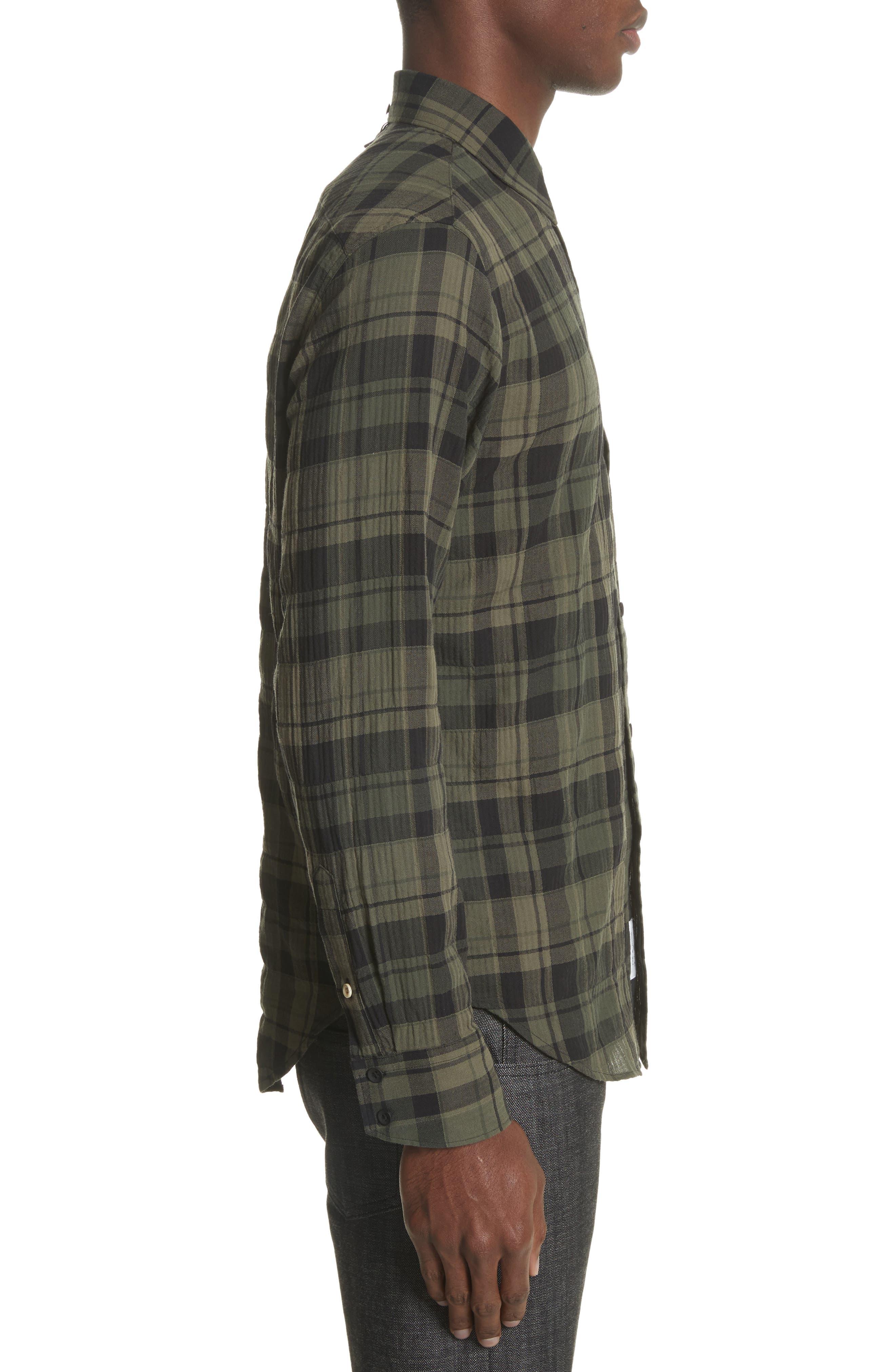 Fit 3 Base Plaid Flannel Shirt,                             Alternate thumbnail 4, color,