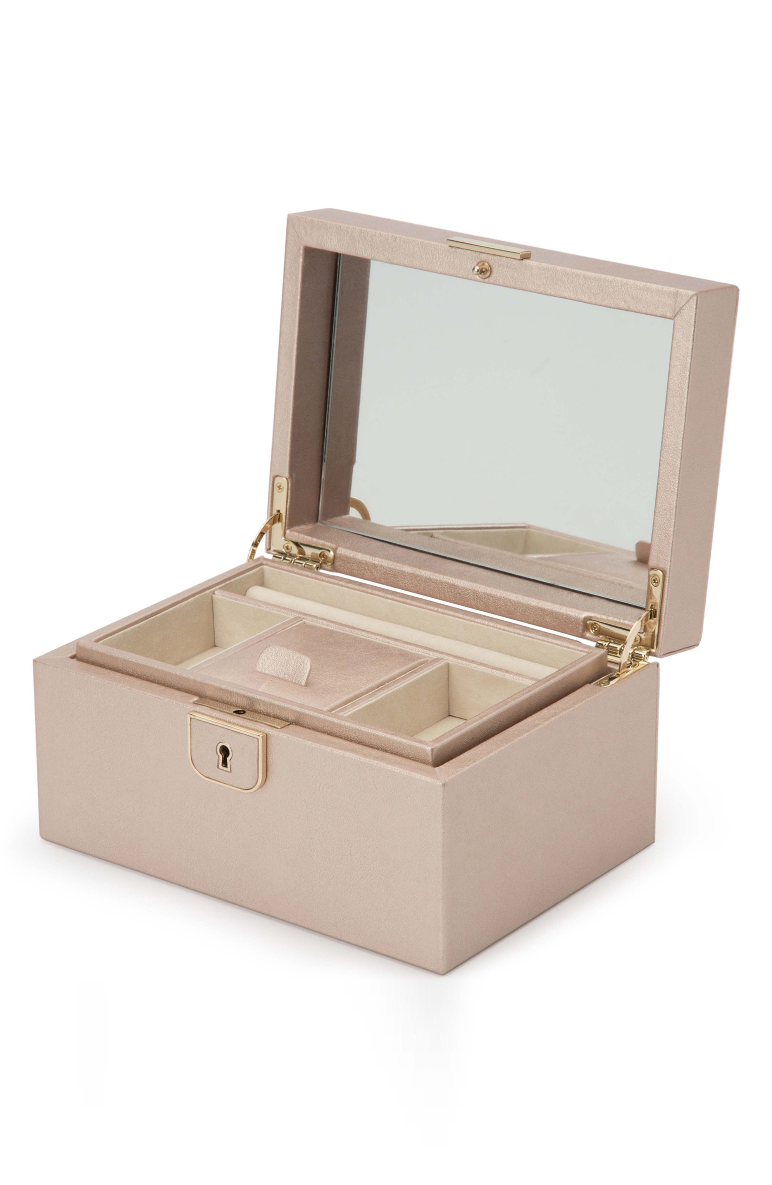 Palermo Small Jewelry Box,                             Alternate thumbnail 5, color,                             ROSE GOLD