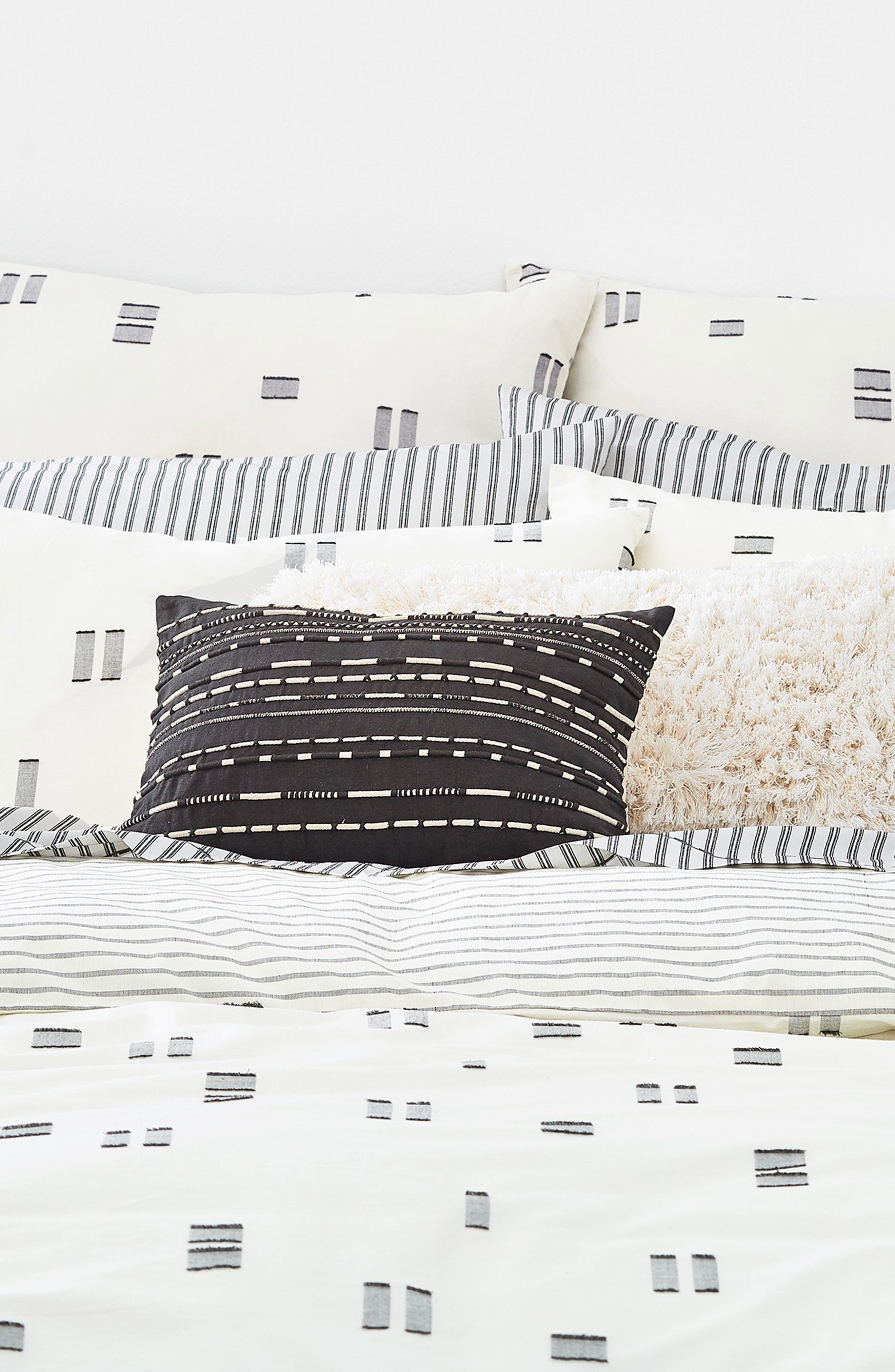Crosshatched Comforter & Sham Set,                             Alternate thumbnail 2, color,                             255