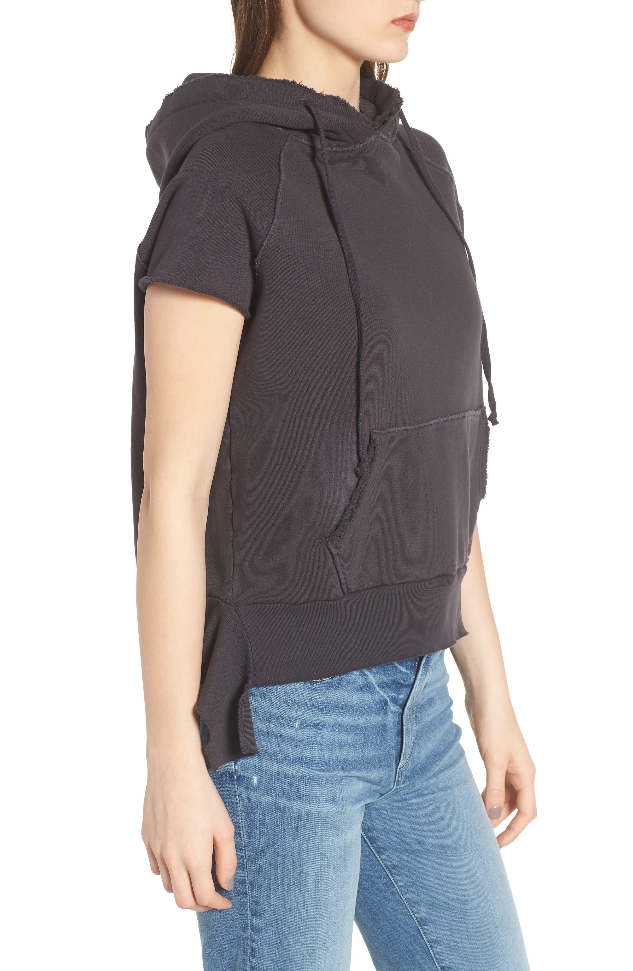 Short Sleeve Pullover Hoodie,                             Alternate thumbnail 3, color,                             020