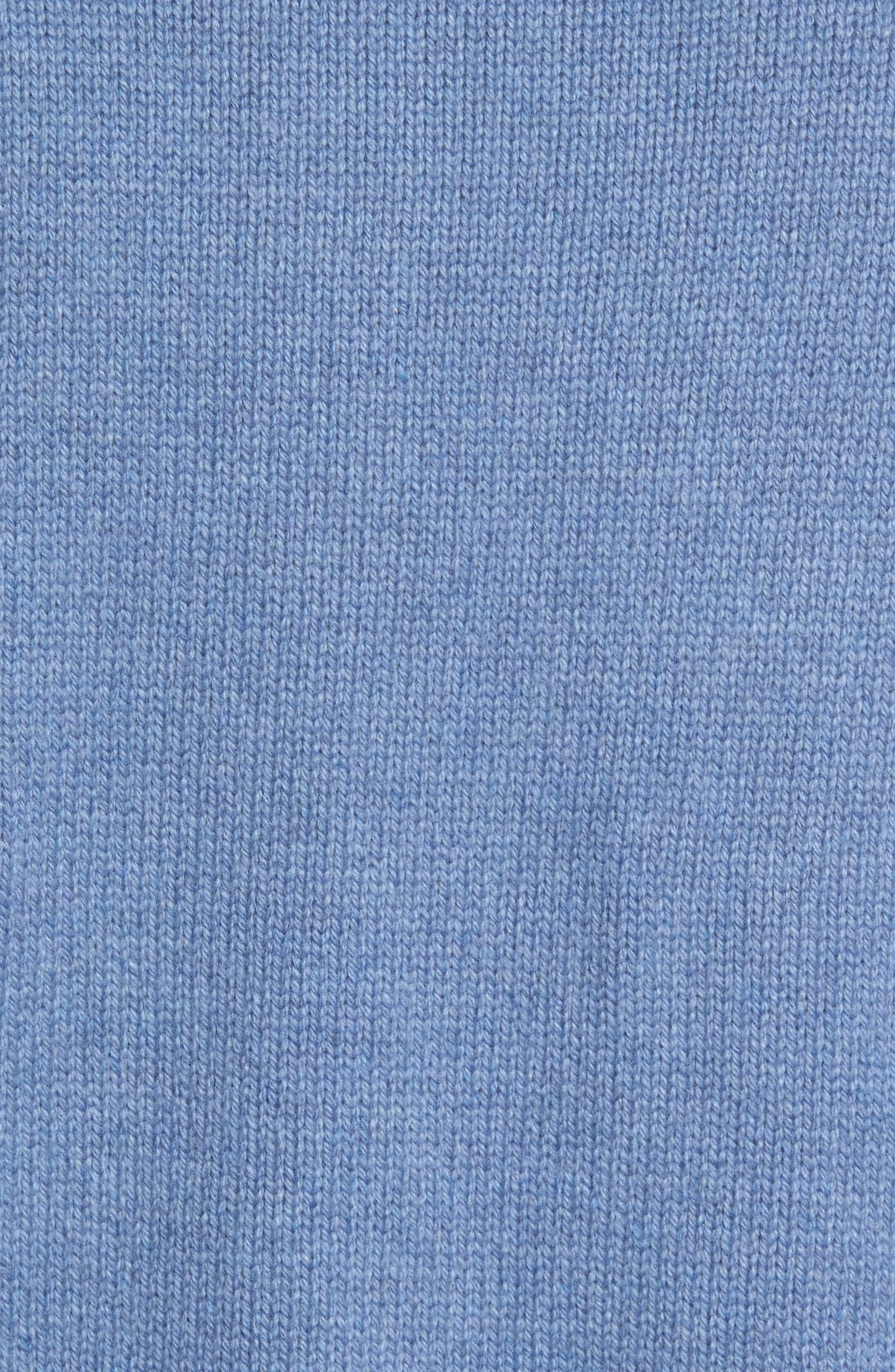 Wool & Cashmere Polo Sweater,                             Alternate thumbnail 5, color,                             495