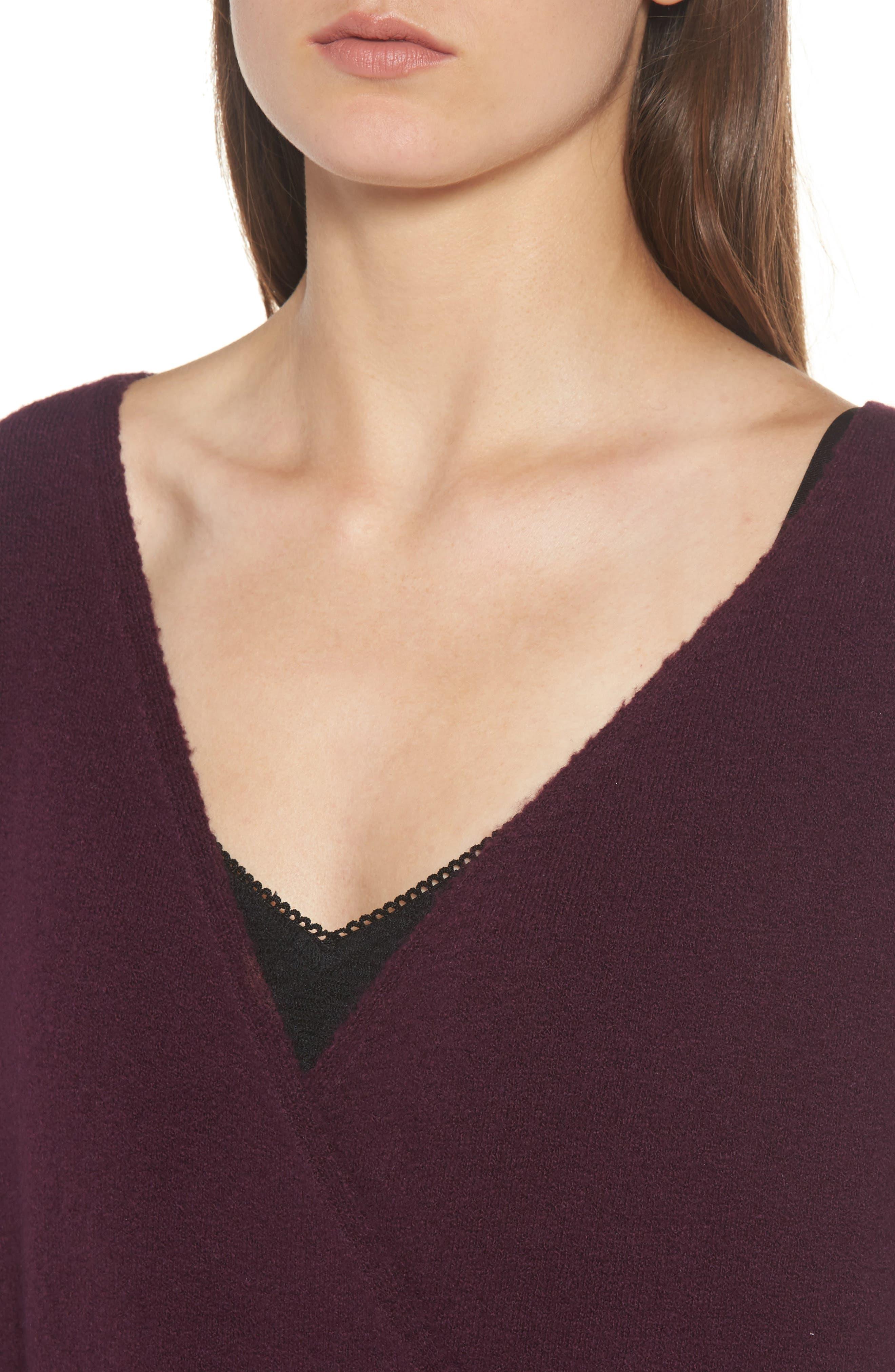Faux Wrap Sweater,                             Alternate thumbnail 12, color,