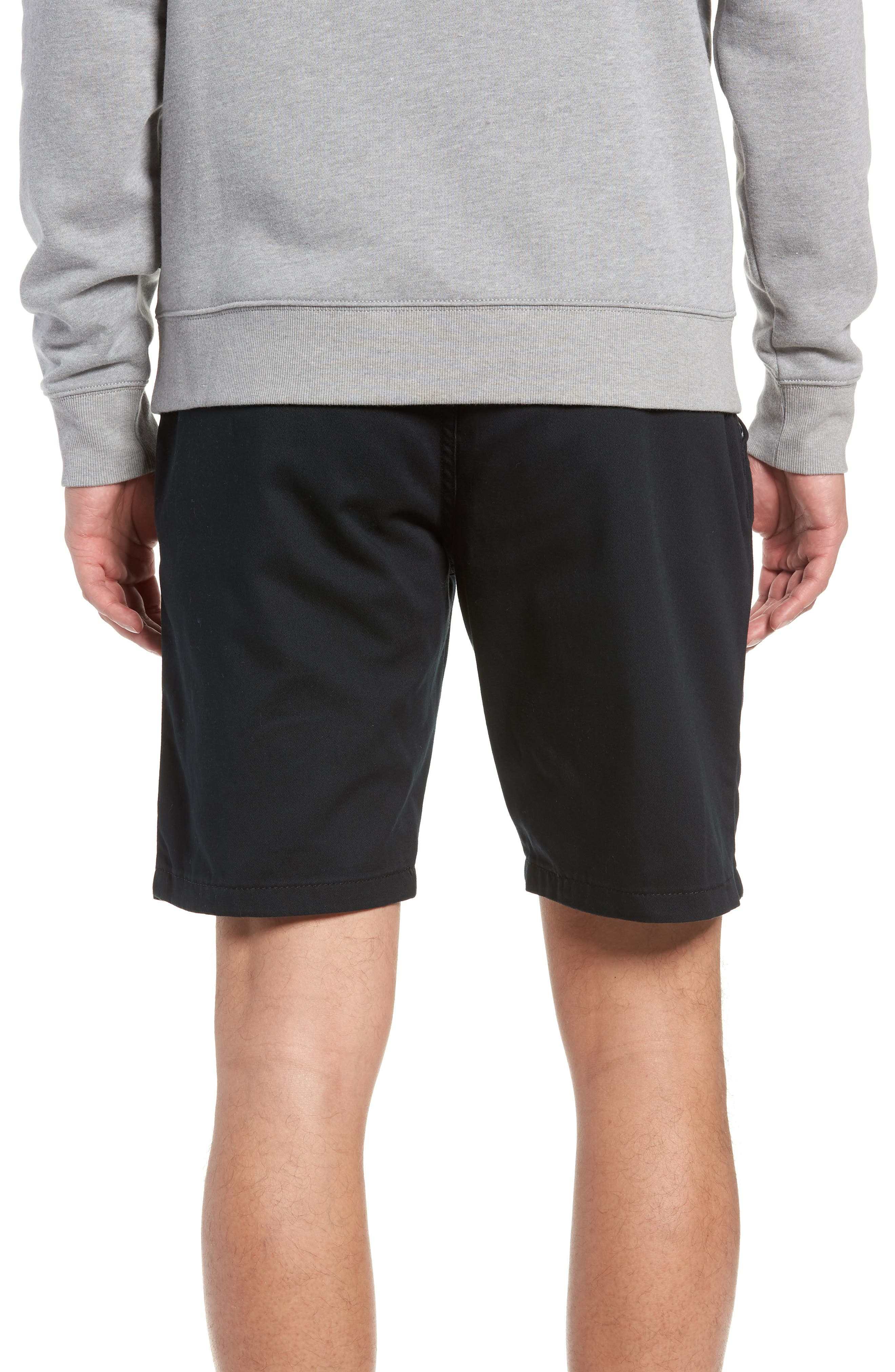 Stretch Twill Chino Shorts,                             Alternate thumbnail 2, color,                             BLACK