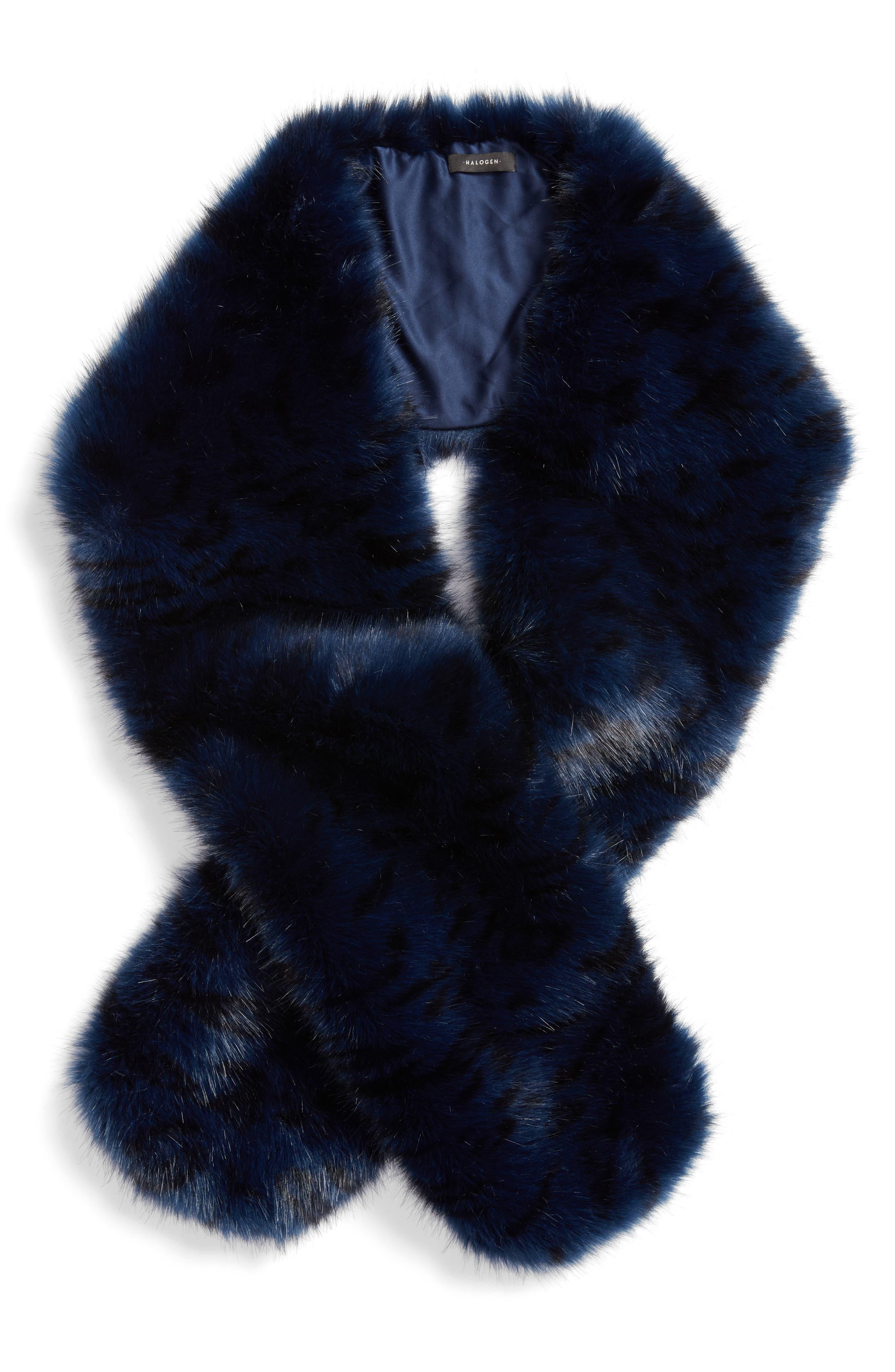 Cool Tiger Faux Fur Stole,                             Alternate thumbnail 2, color,                             420