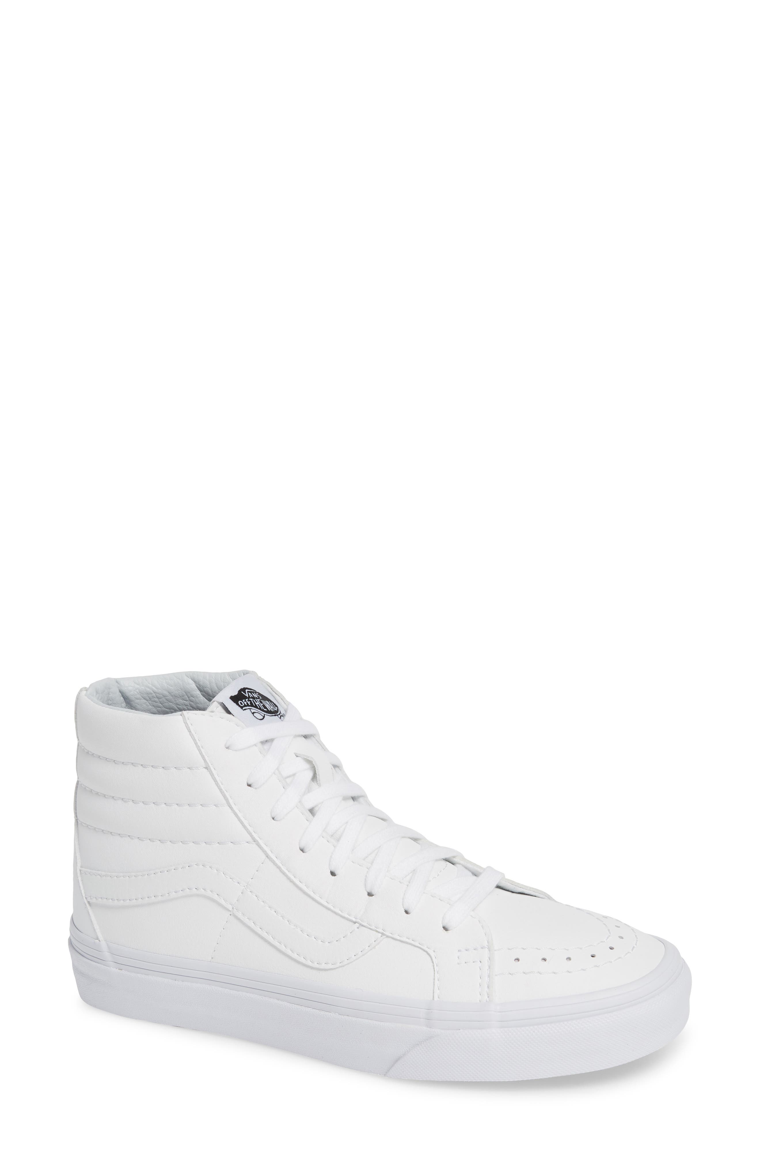 'Sk8-Hi Reissue' Sneaker,                         Main,                         color, TRUE WHITE