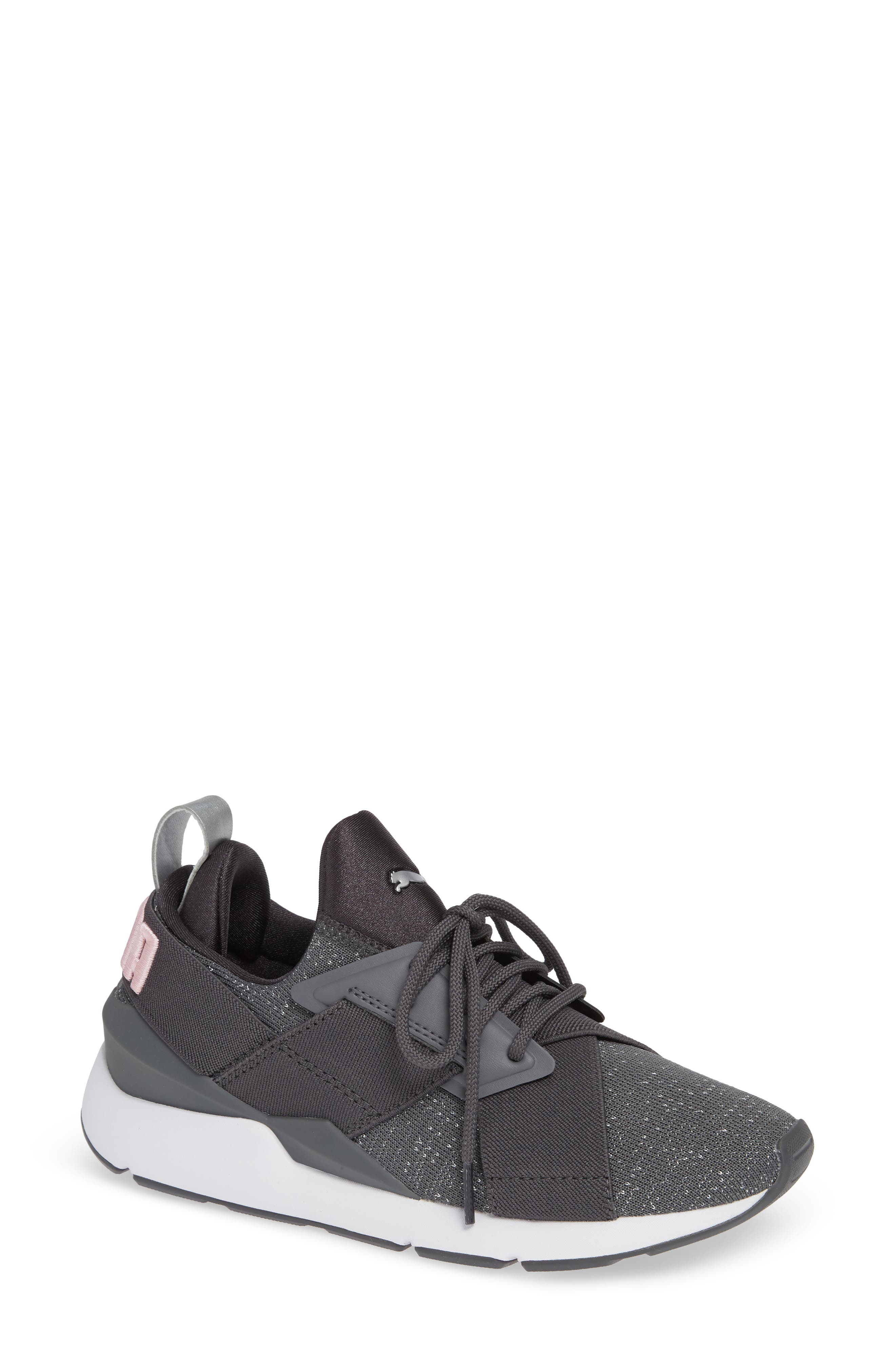 Muse Knit Sneaker,                         Main,                         color, IRON GATE