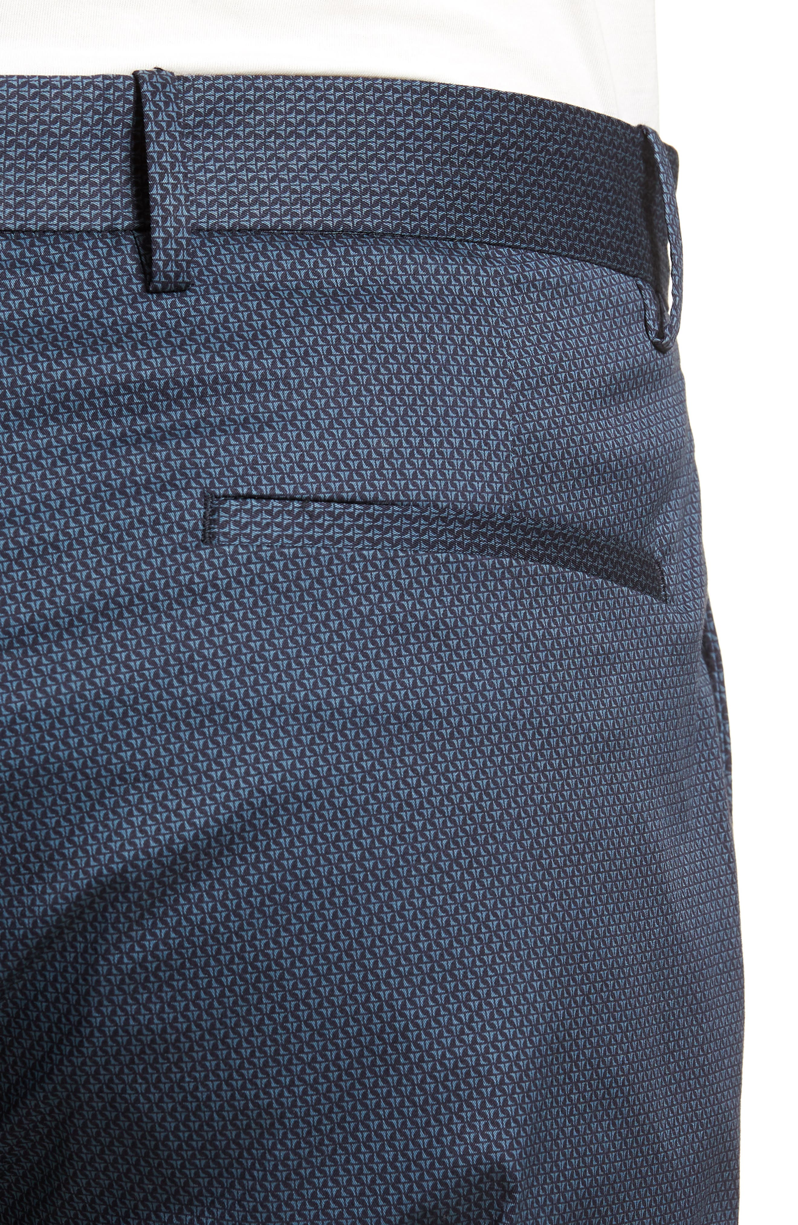 Zaine Stretch Cotton Shorts,                             Alternate thumbnail 4, color,                             ECLIPSE MULTI