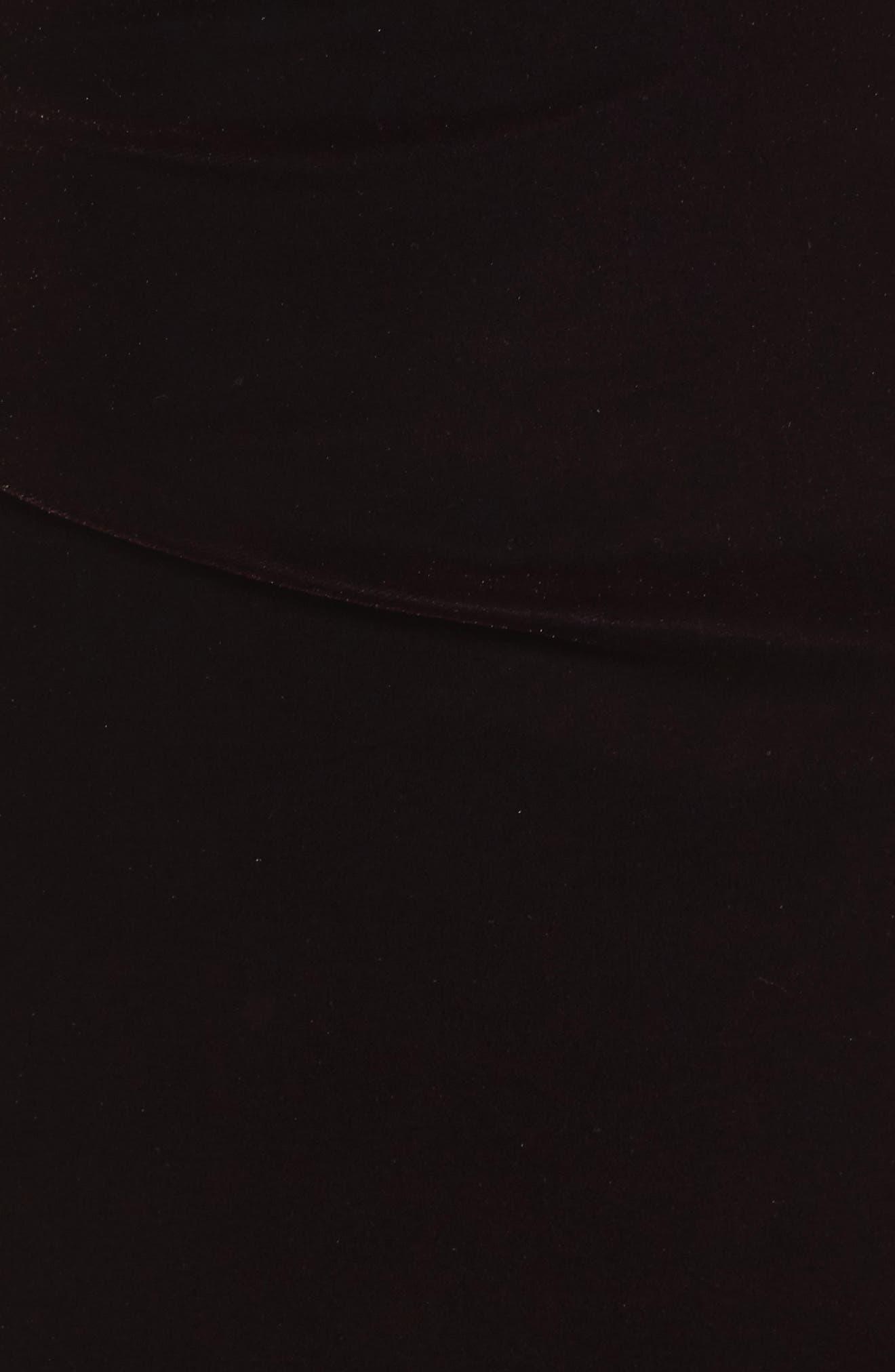 Cap Sleeve Draped Velvet Gown,                             Alternate thumbnail 5, color,                             507