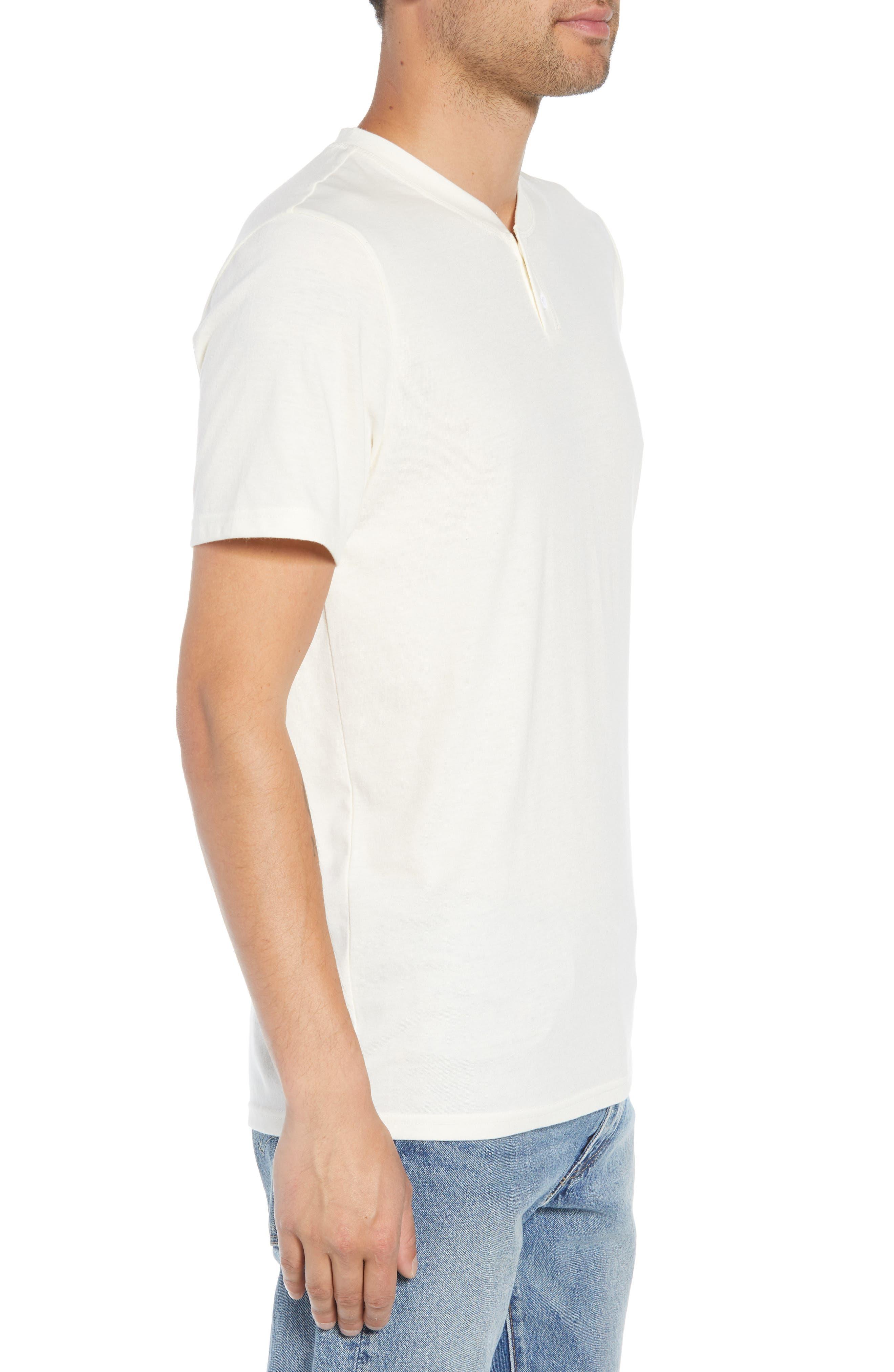 Solid Henley T-Shirt,                             Alternate thumbnail 3, color,                             IVORY EGRET