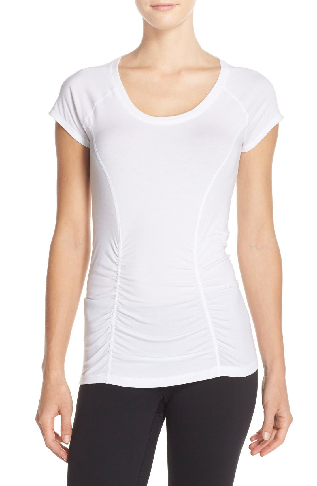 'Z 6' Ruched Tee,                             Main thumbnail 4, color,