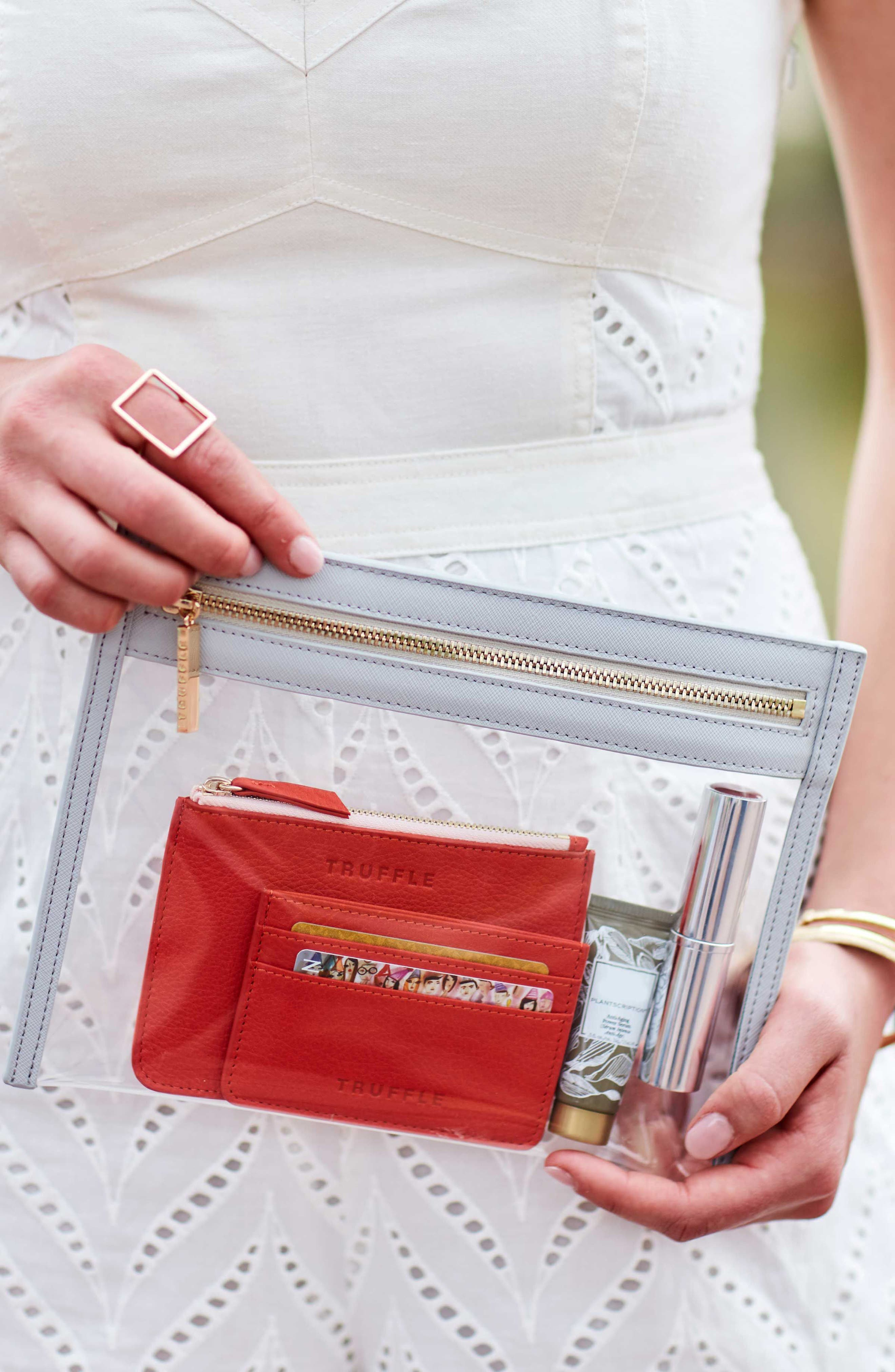 Small Clarity Clutch,                             Alternate thumbnail 7, color,                             DOVE GREY