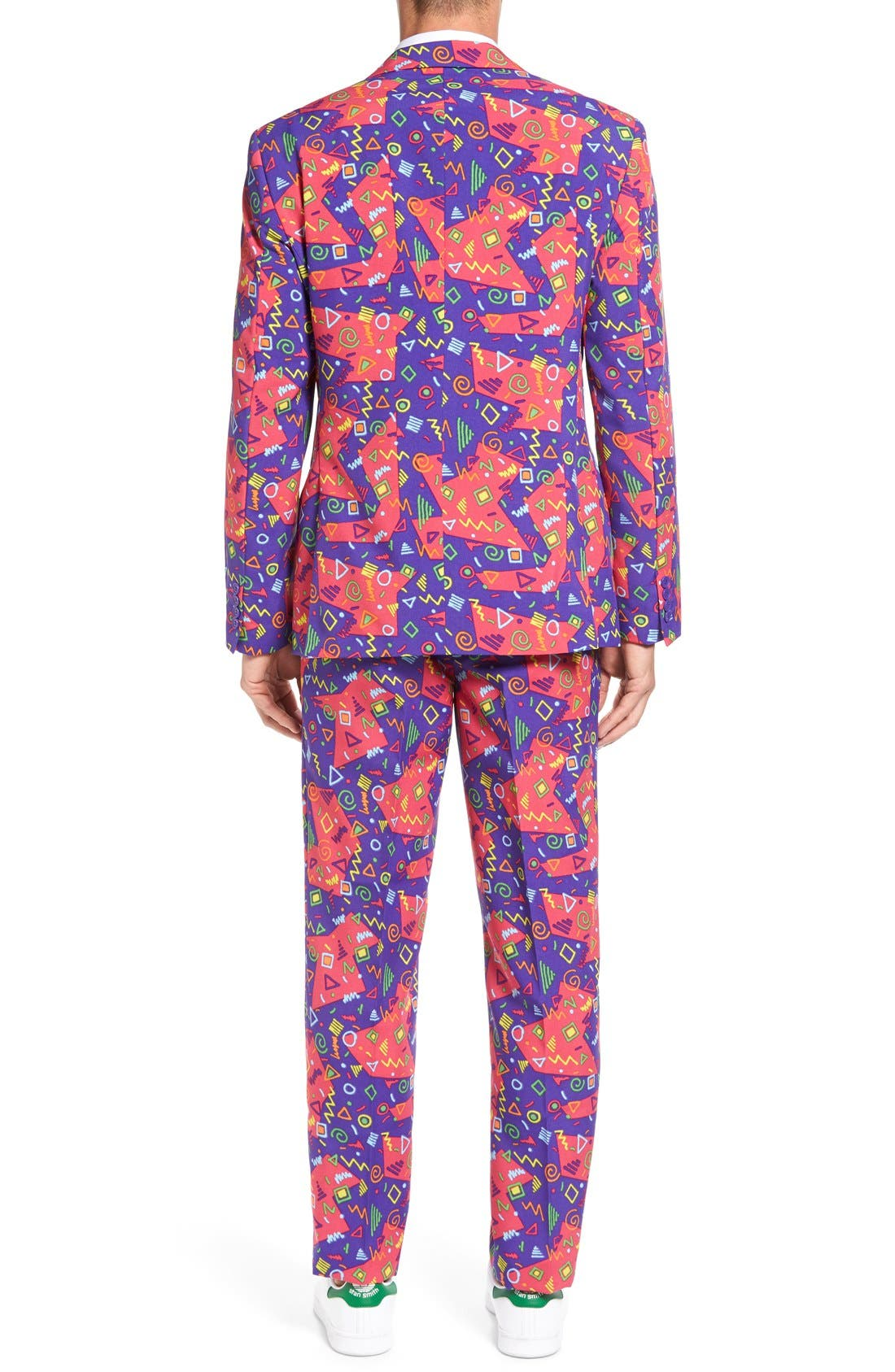 'The Fresh Prince' Trim Fit Two-Piece Suit with Tie,                             Alternate thumbnail 2, color,