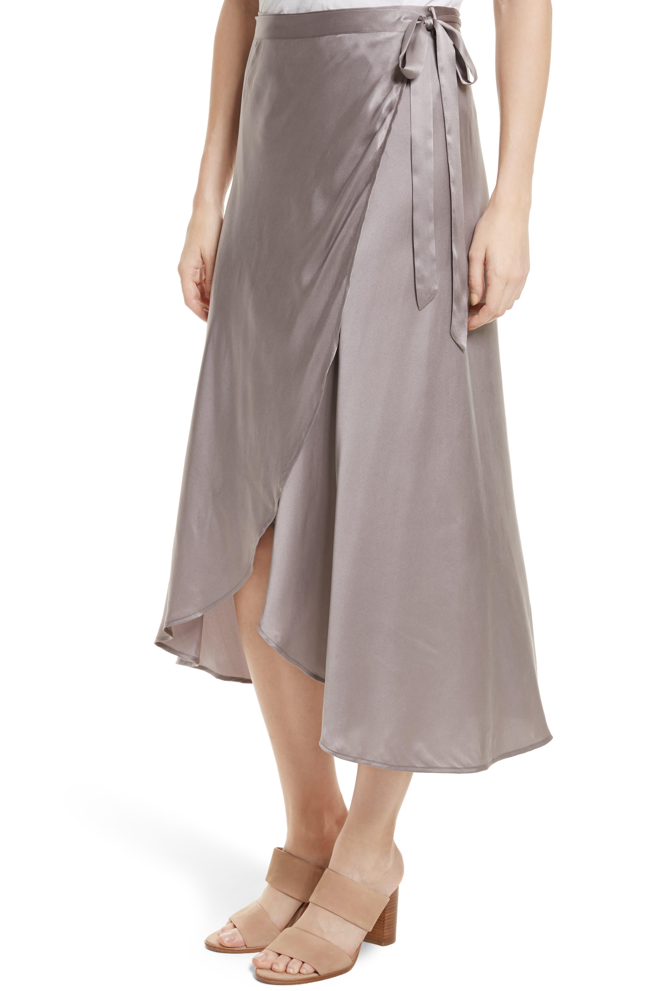 Dahoma Silk Wrap Midi Skirt,                             Alternate thumbnail 4, color,                             042