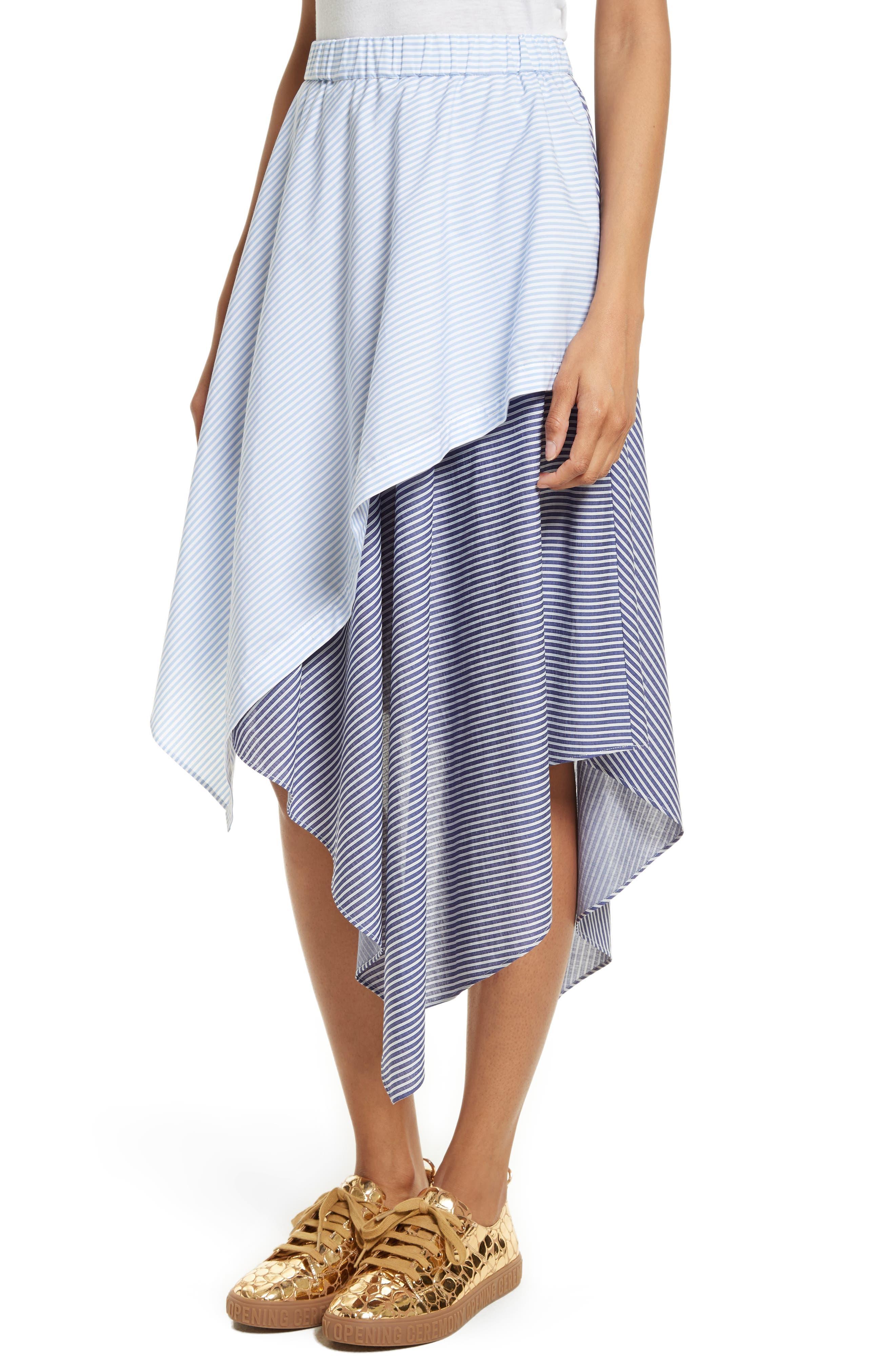 Cody Stripe Asymmetrical Skirt,                             Alternate thumbnail 4, color,