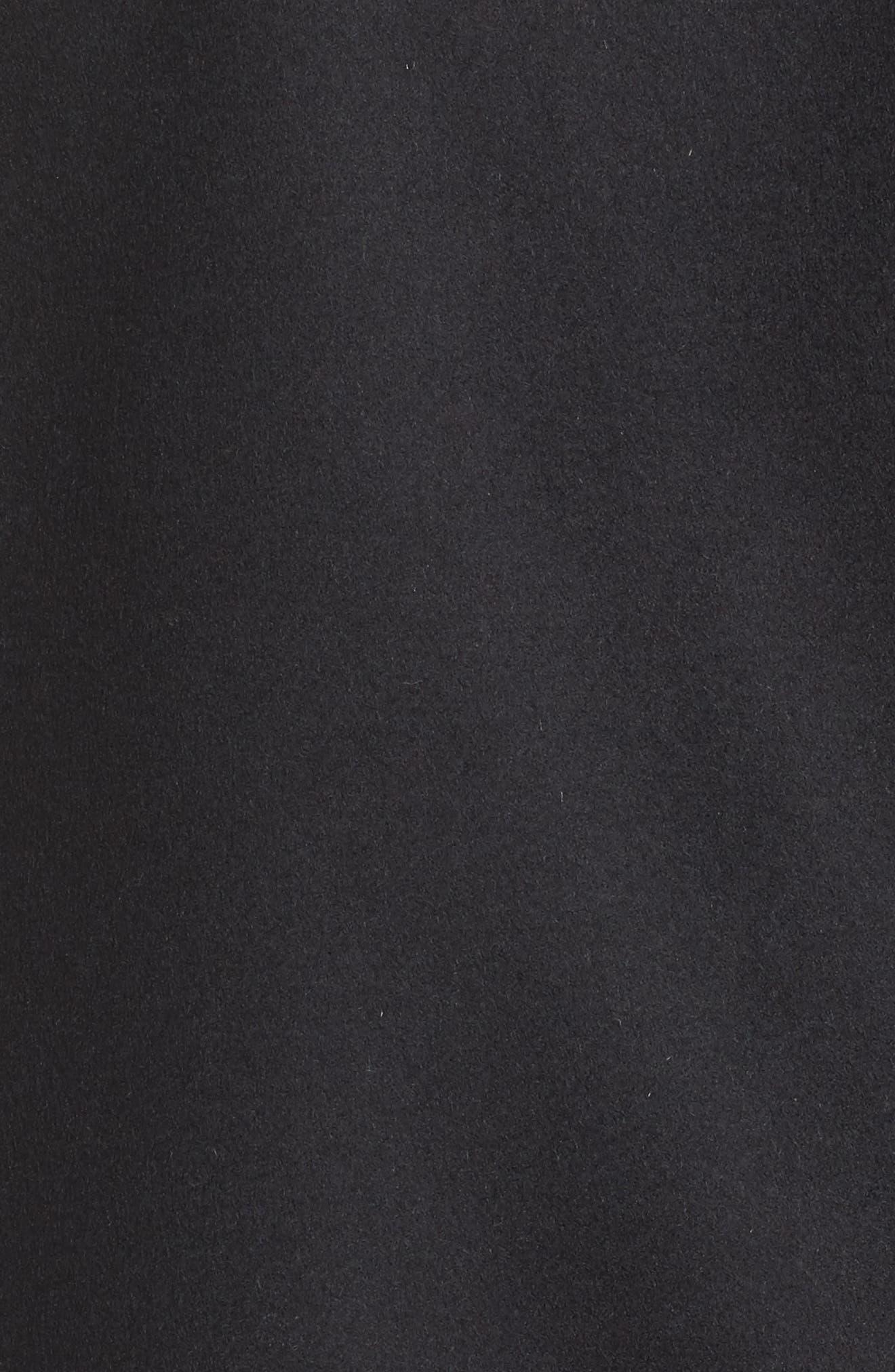 Wool Blend Moto Jacket,                             Alternate thumbnail 6, color,                             001
