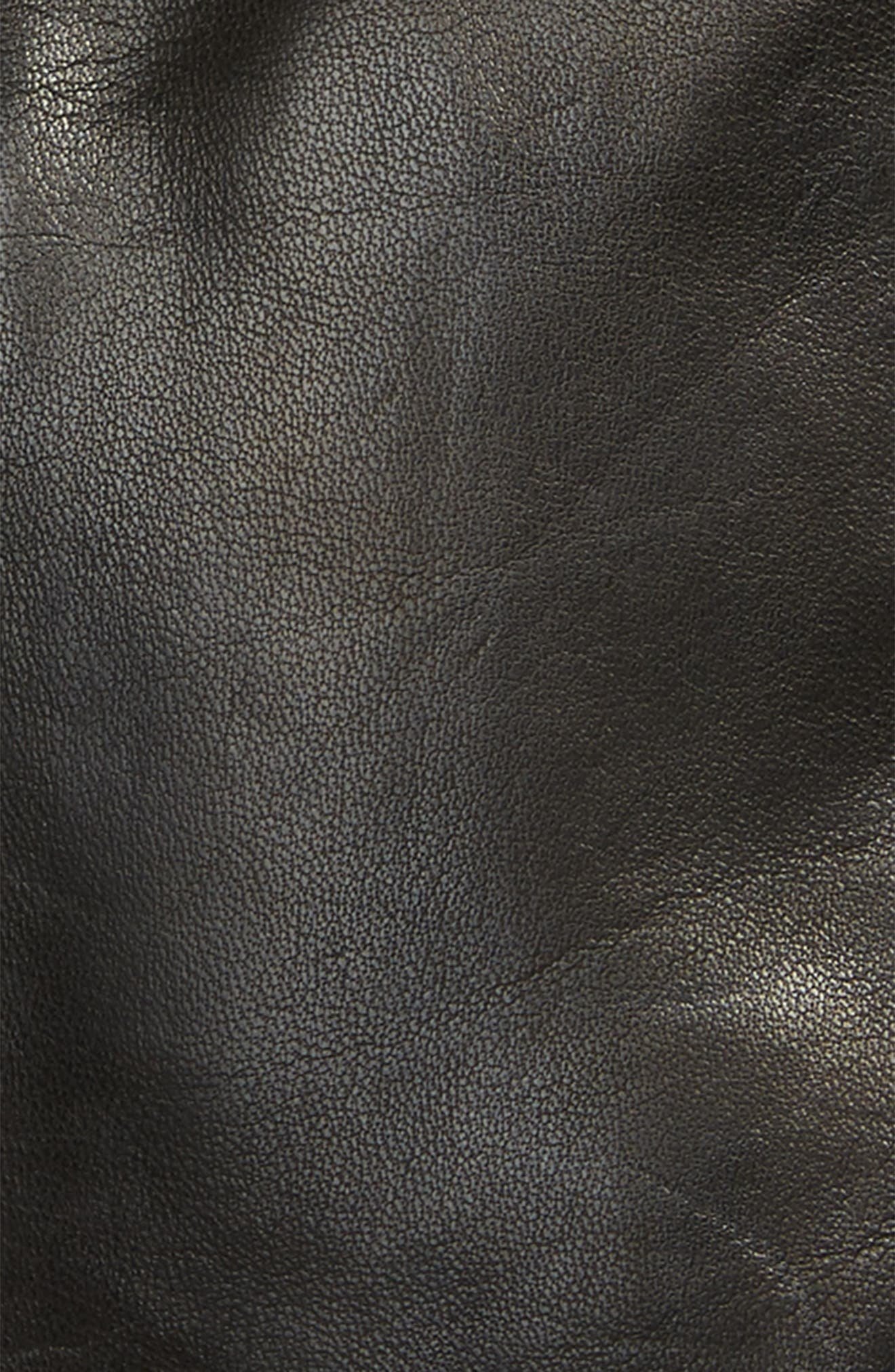 Lambskin Leather Gloves,                             Alternate thumbnail 3, color,                             001