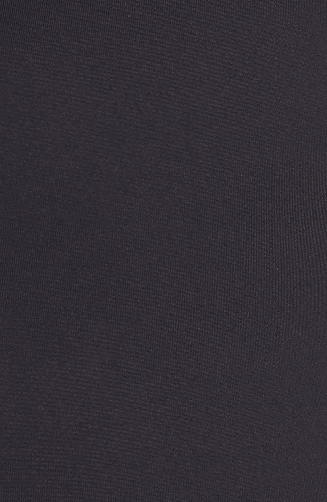 Body-Con Midi Dress,                             Alternate thumbnail 7, color,                             001