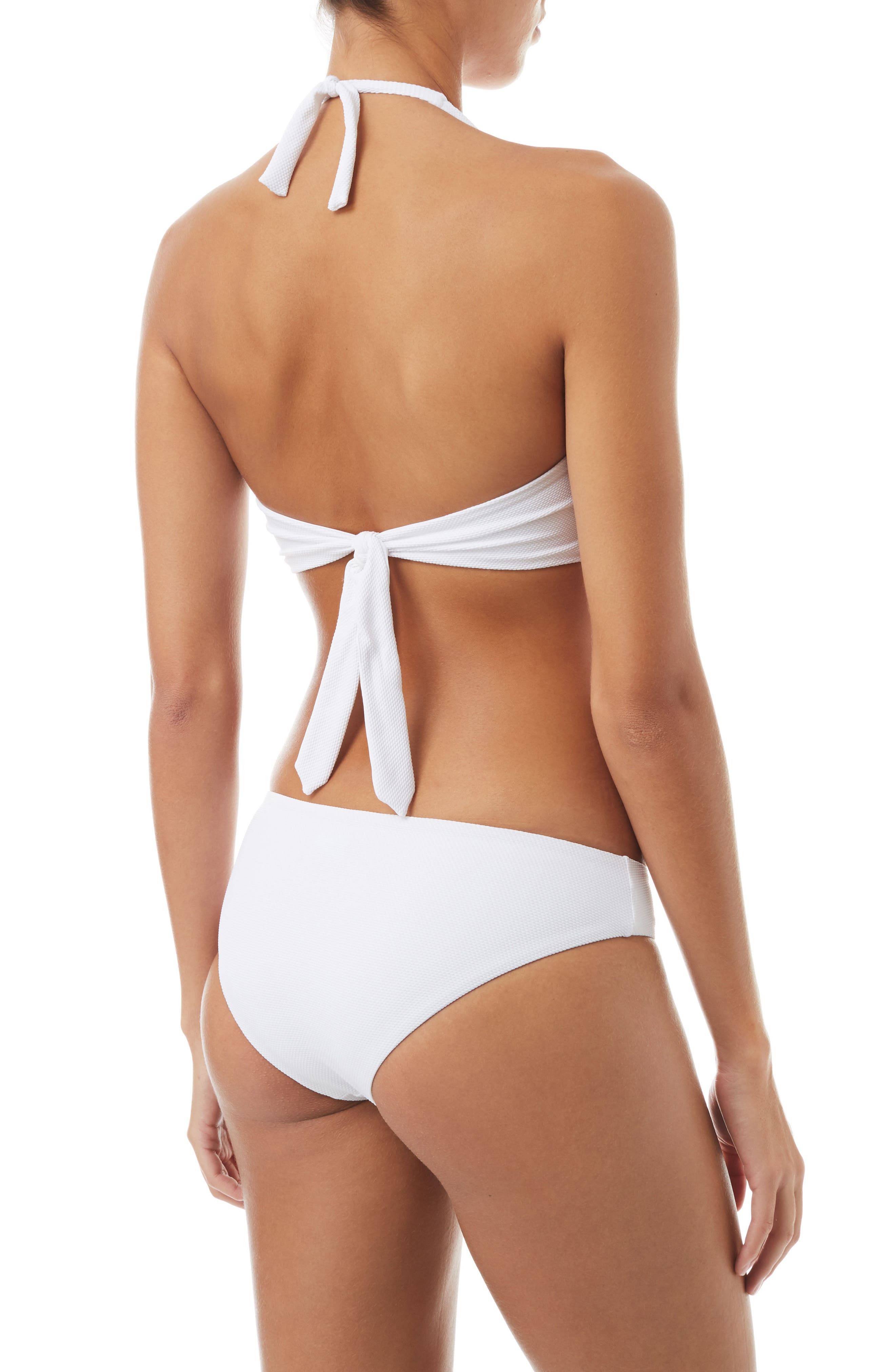 Africa Halter Bikini Top,                             Alternate thumbnail 4, color,                             PIQUE WHITE