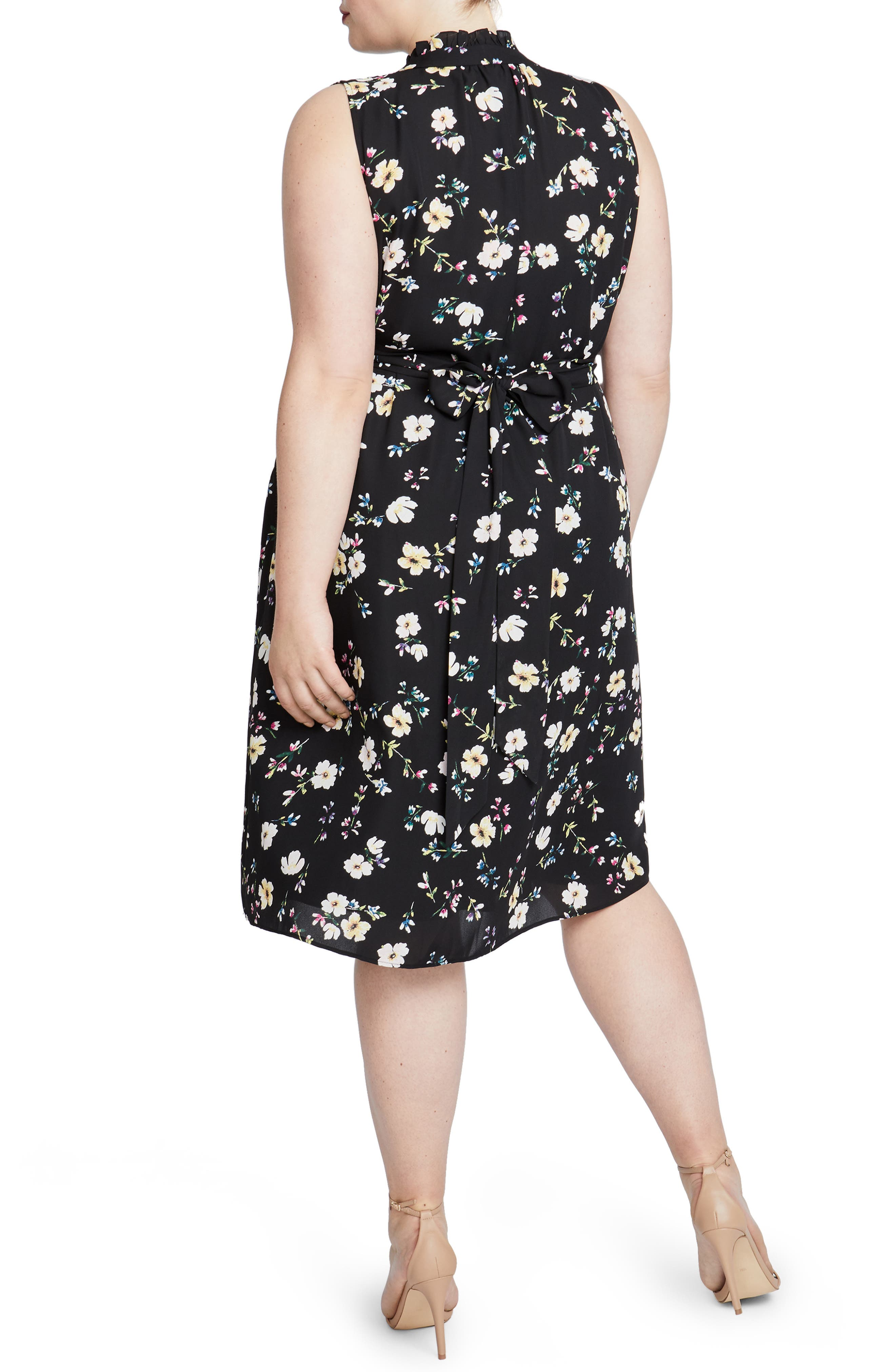 Brit Sleeveless Floral Dress,                             Alternate thumbnail 2, color,                             001