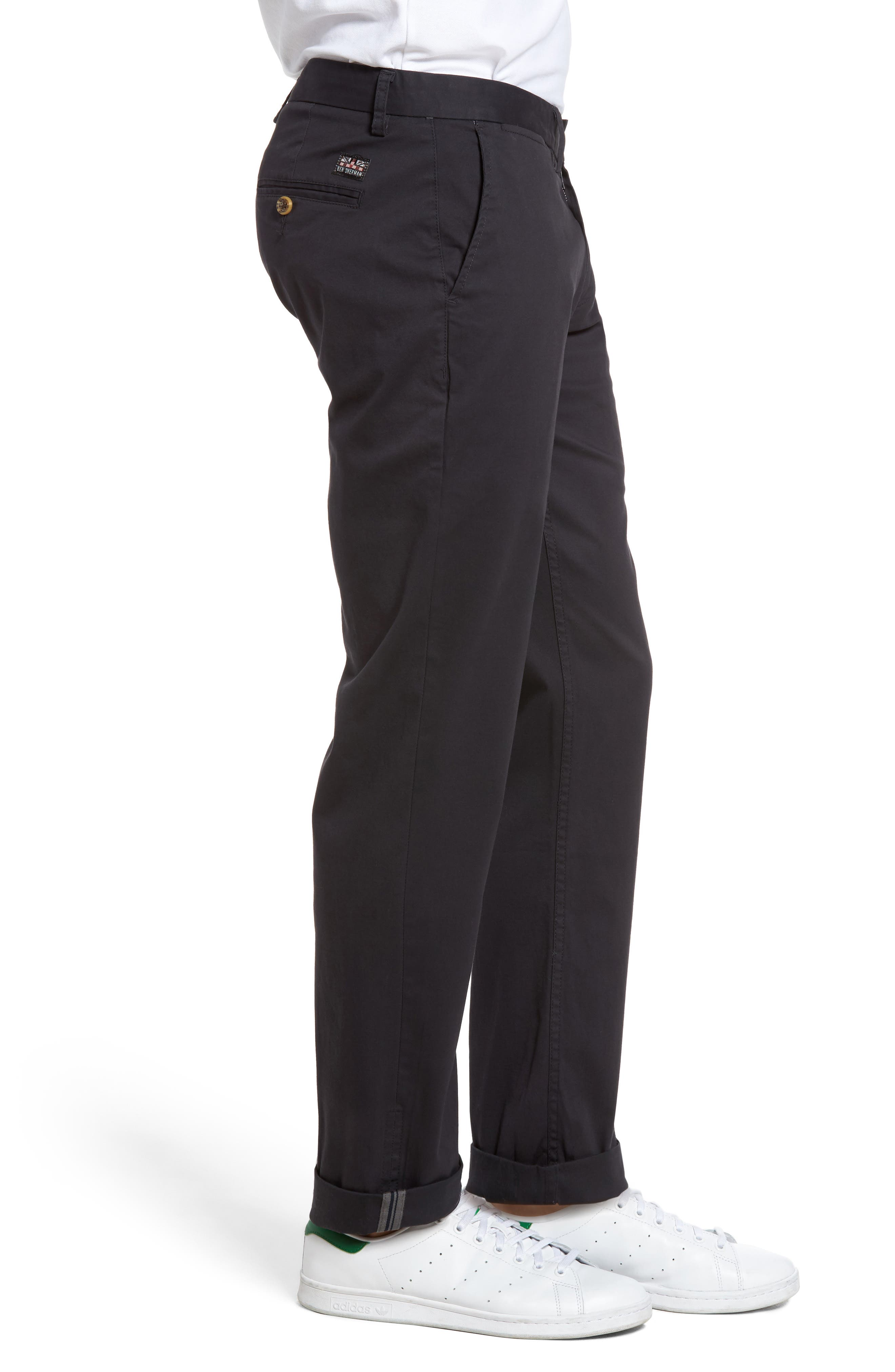 Slim Fit Stretch Chinos,                             Alternate thumbnail 34, color,