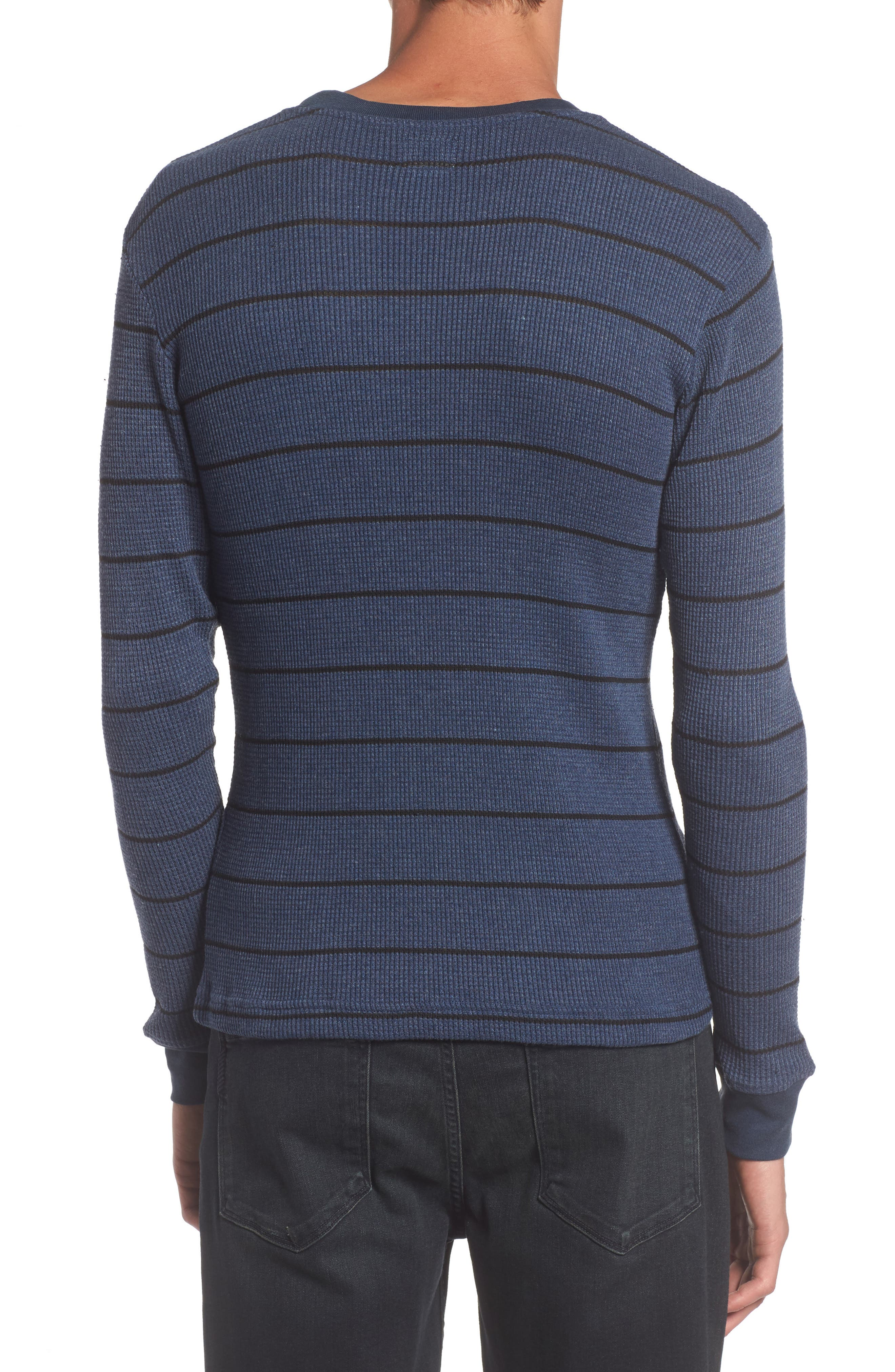 Neutral Stripe Thermal T-Shirt,                             Alternate thumbnail 4, color,