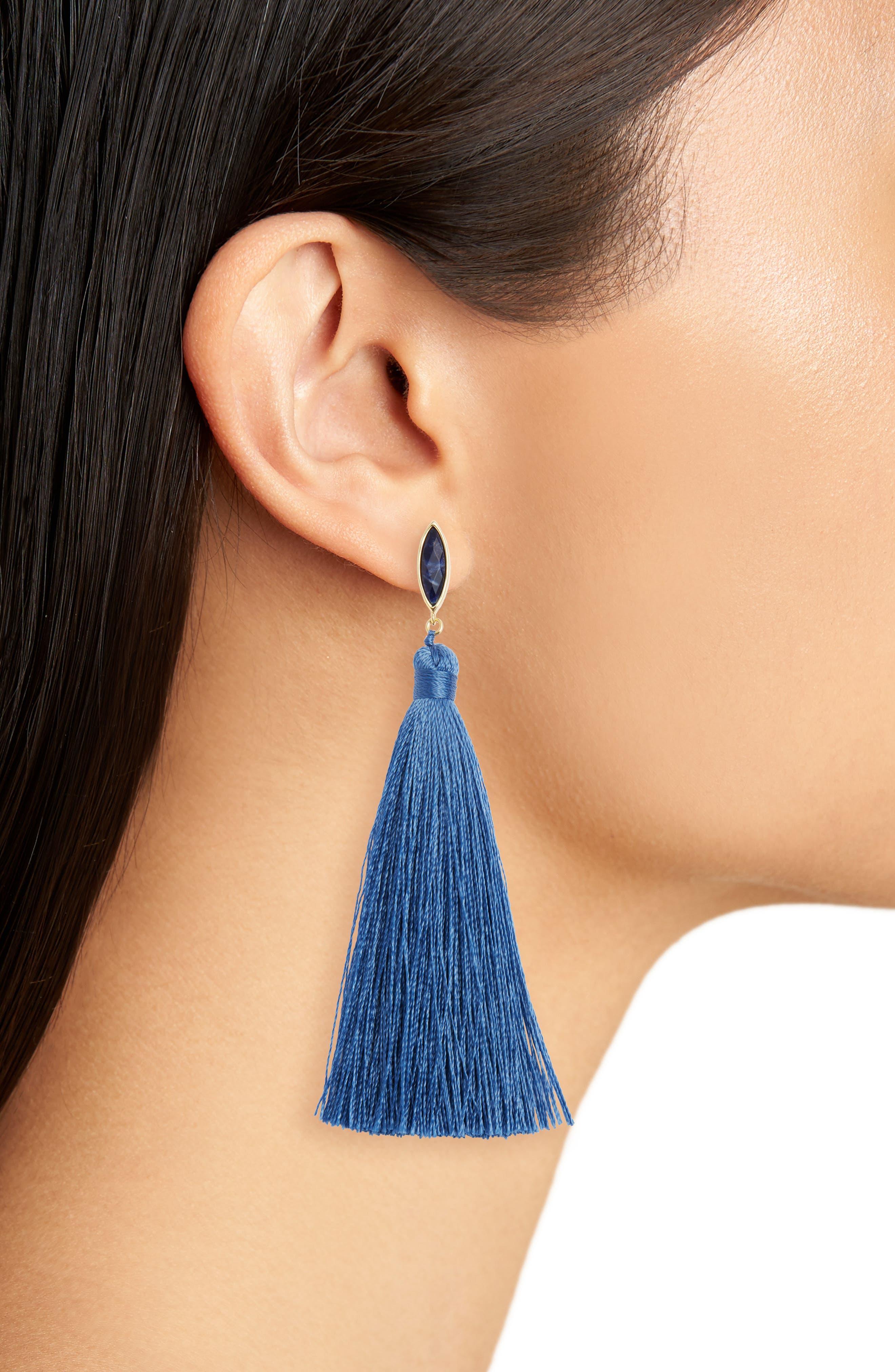 Palisades Tassel Earrings,                             Alternate thumbnail 6, color,