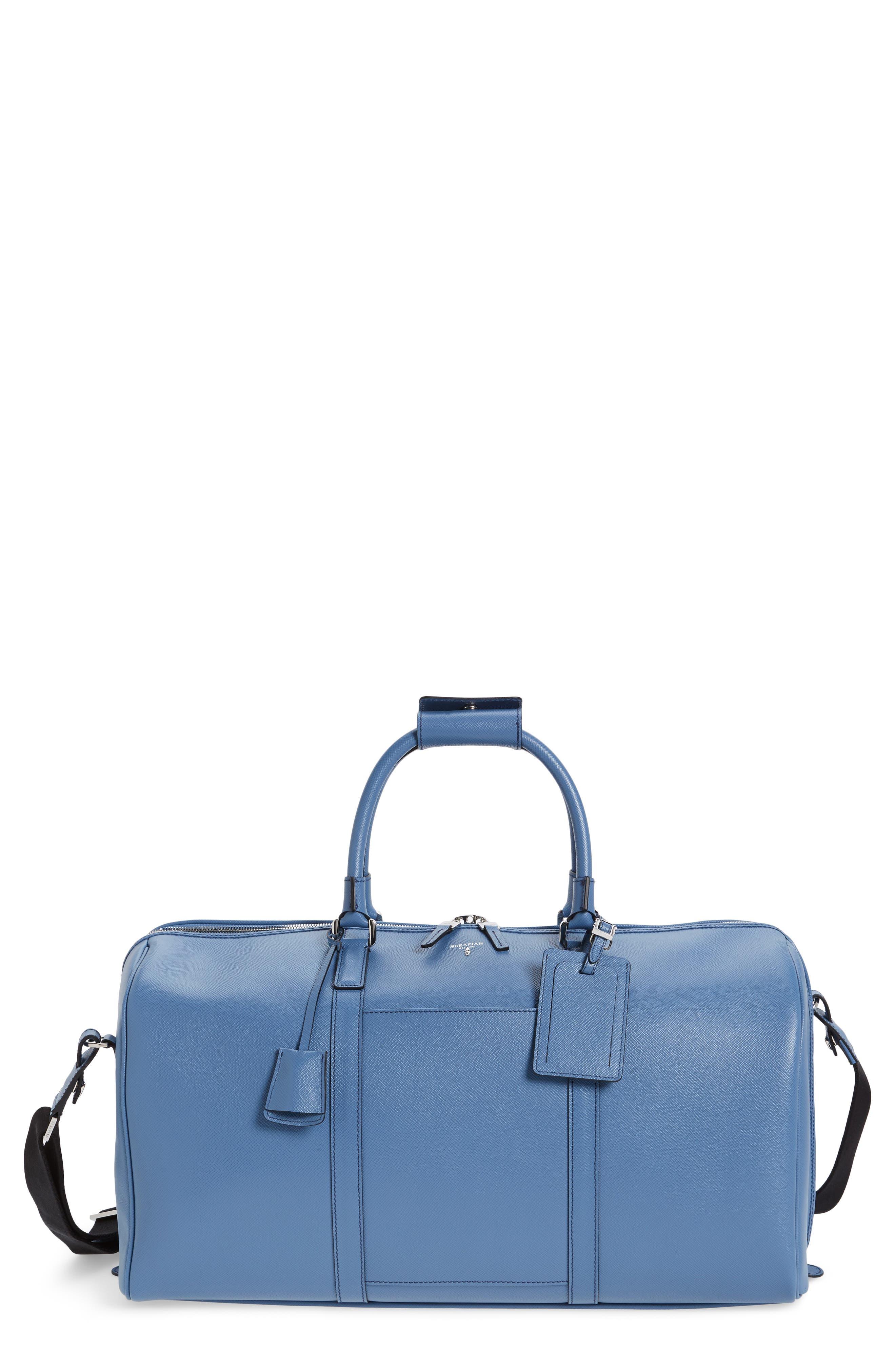 Small Evolution Leather Duffel Bag,                             Main thumbnail 4, color,