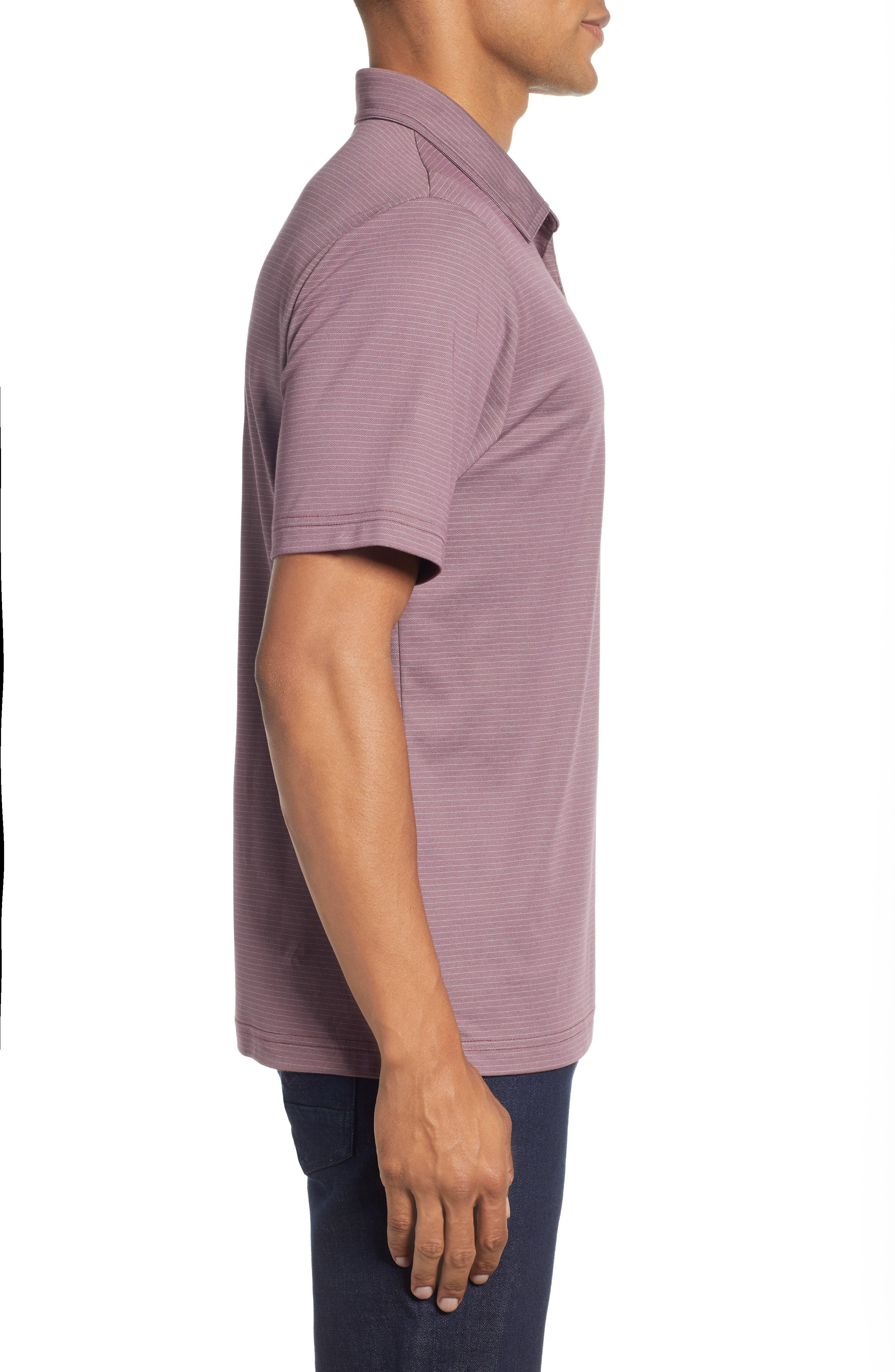 The VIP Regular Fit Polo,                             Alternate thumbnail 3, color,                             EGGPLANT/ MICRO CHIP