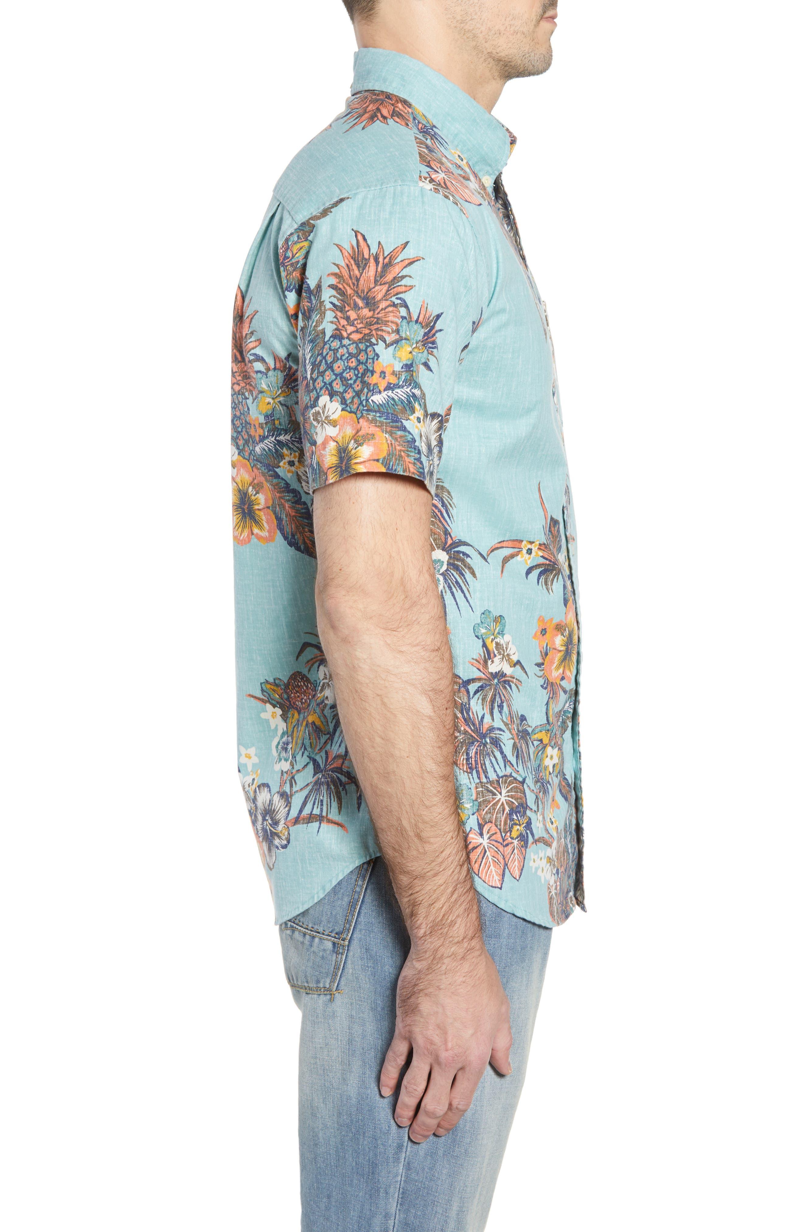 Pupas & Mai Tais Regular Fit Sport Shirt,                             Alternate thumbnail 3, color,                             BLUE 2