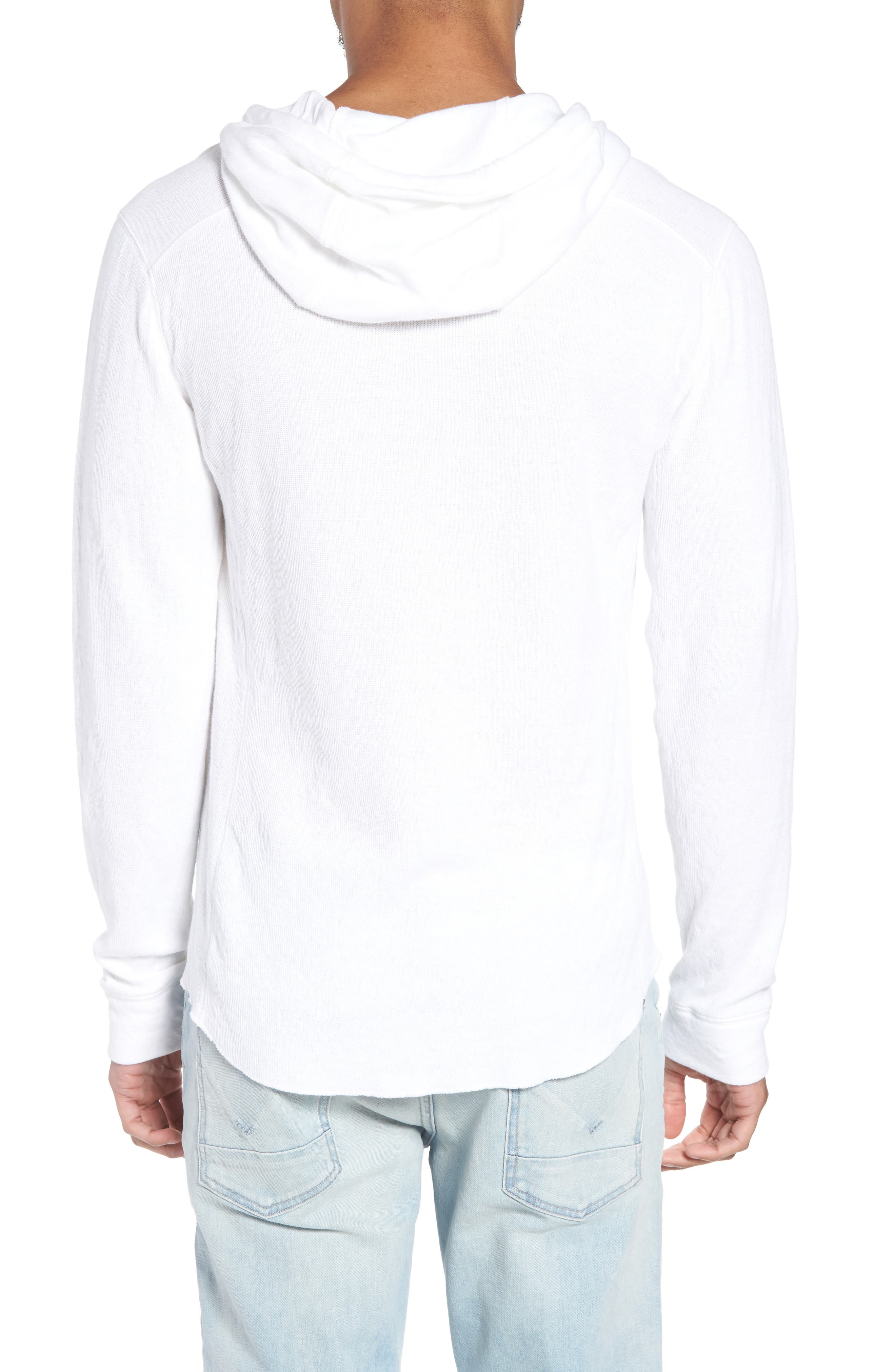 Slim Fit Hooded Henley,                             Alternate thumbnail 2, color,                             100