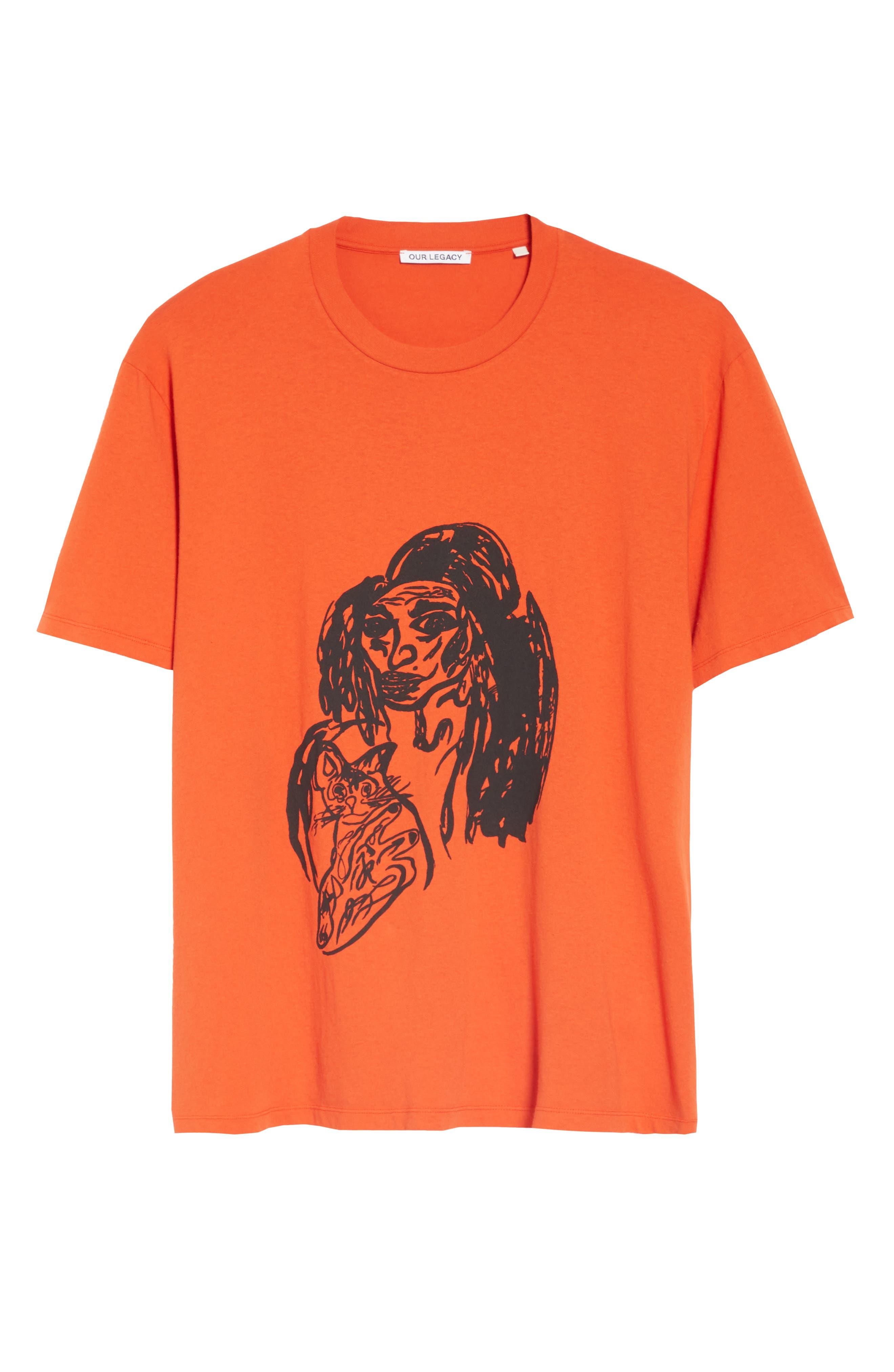 Portrait Graphic Box T-shirt,                             Alternate thumbnail 6, color,                             RED