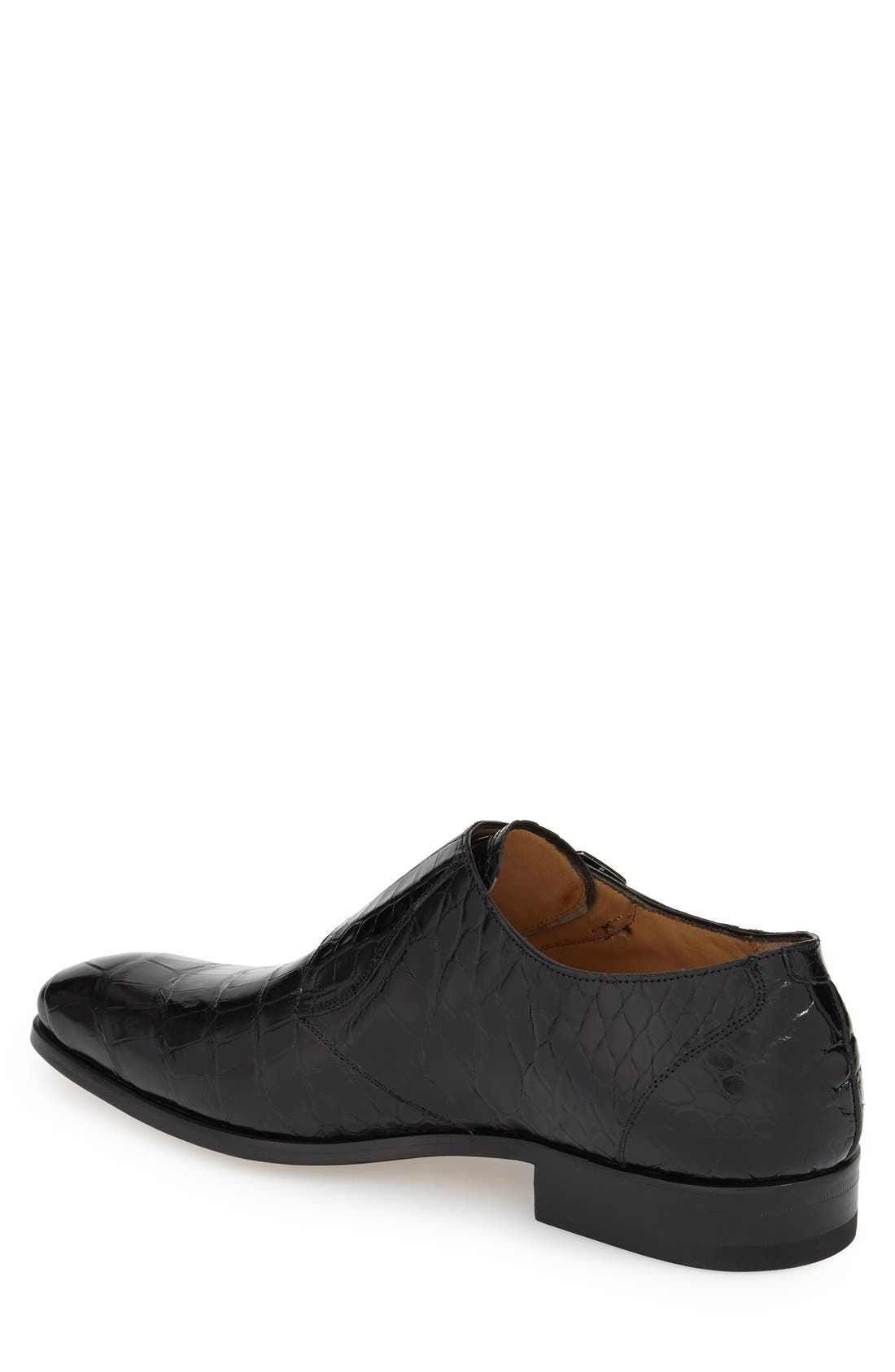 'Agra' Double Monk Strap Shoe,                             Alternate thumbnail 3, color,
