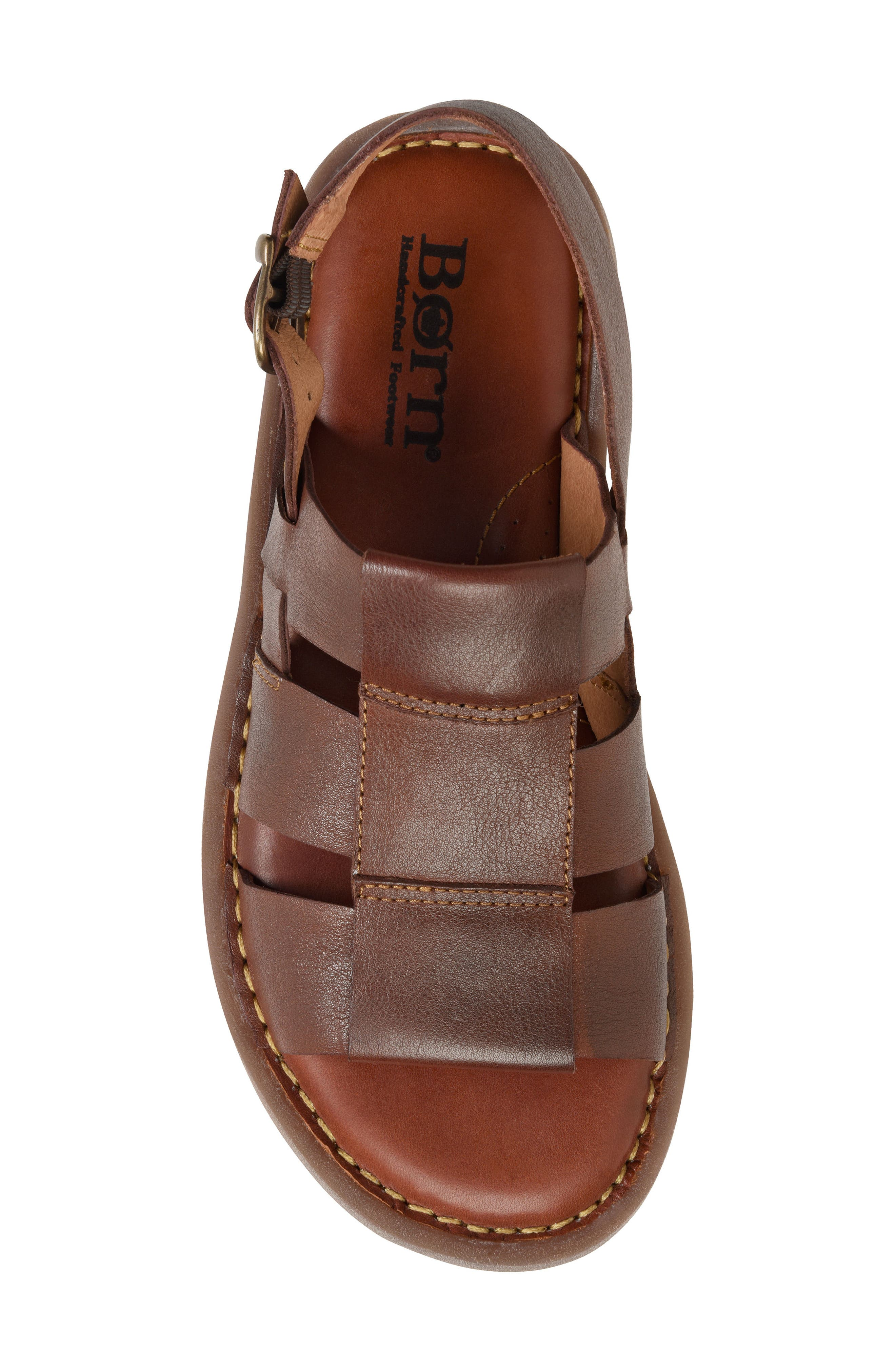 Surf Fisherman Sandal,                             Alternate thumbnail 5, color,                             BROWN LEATHER
