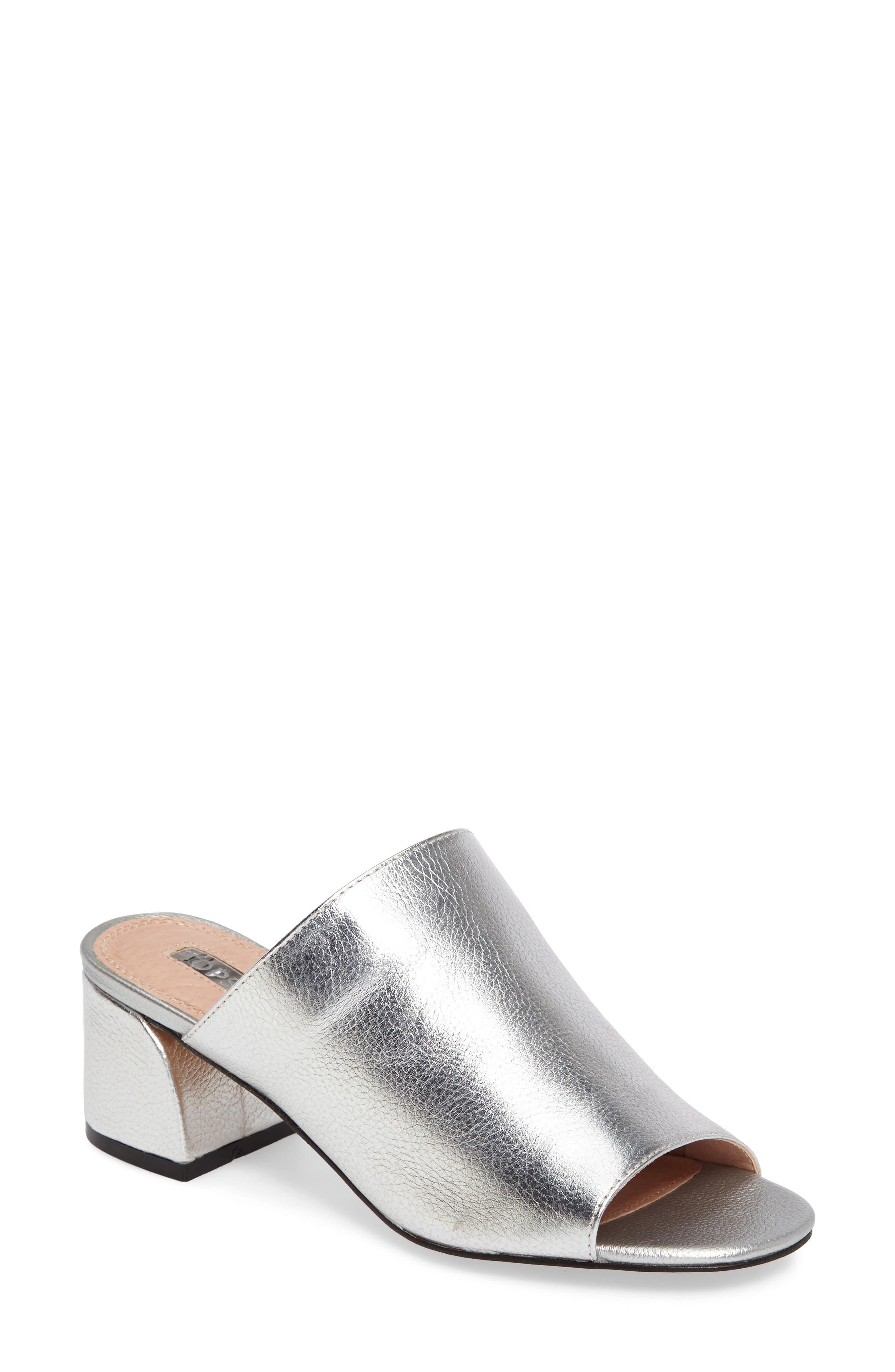 Notorious Metallic Slide Sandal,                             Main thumbnail 1, color,                             040