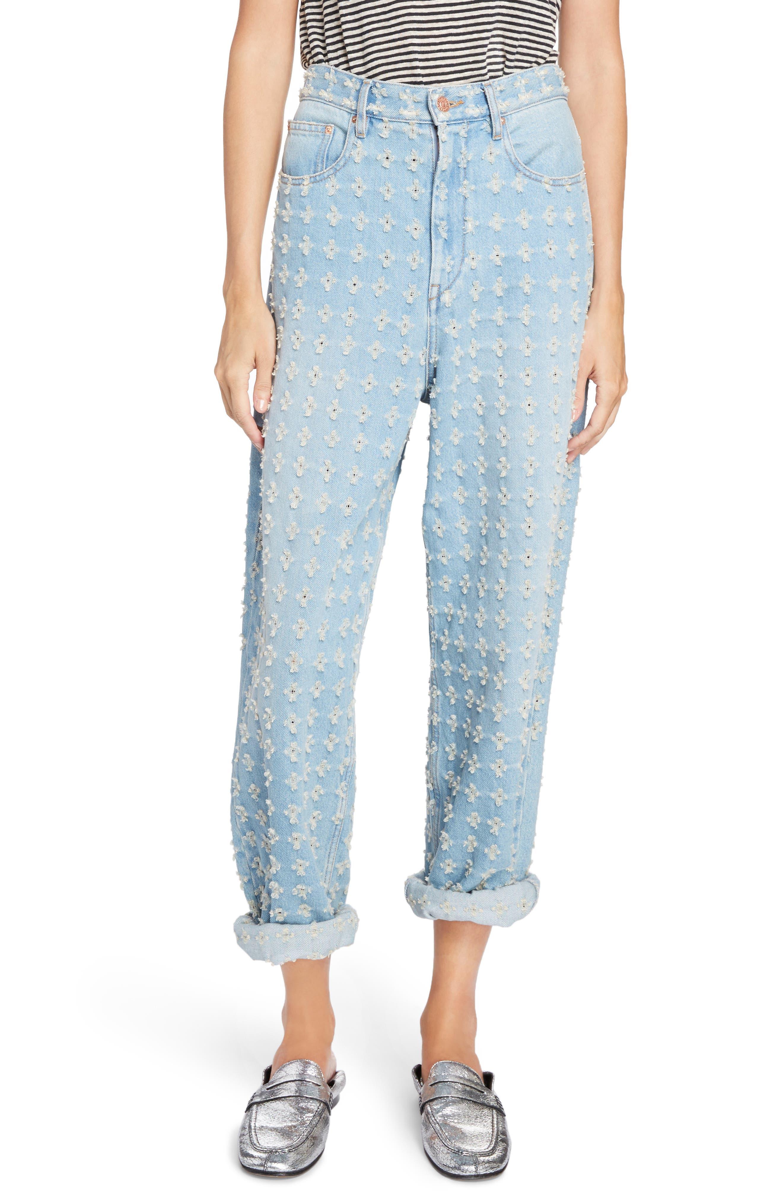 Isabel Marant Étoile Cory Cuffed Jeans,                         Main,                         color, 400