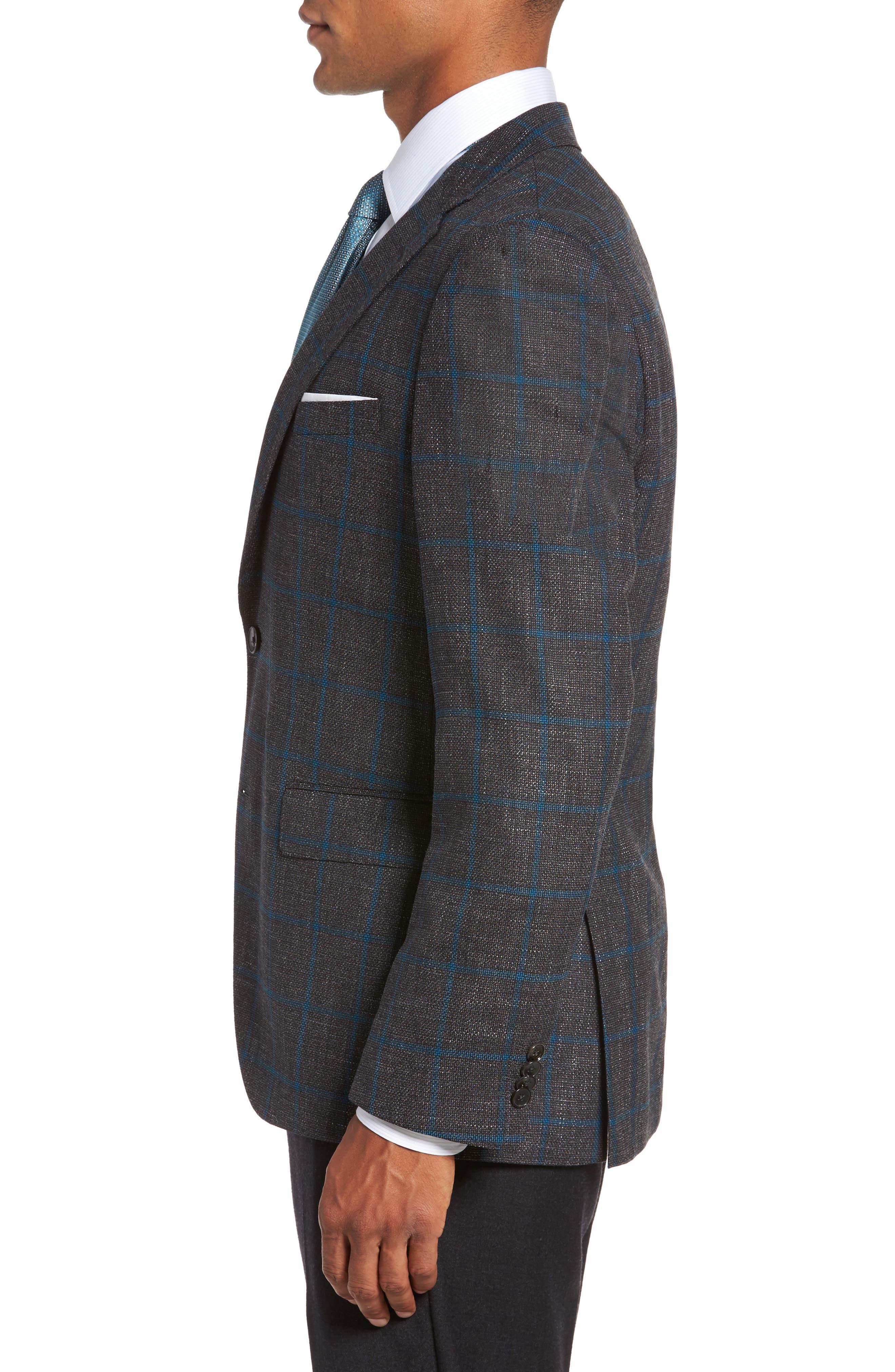 Jeen Classic Fit Wool Sport Coat,                             Alternate thumbnail 3, color,                             061