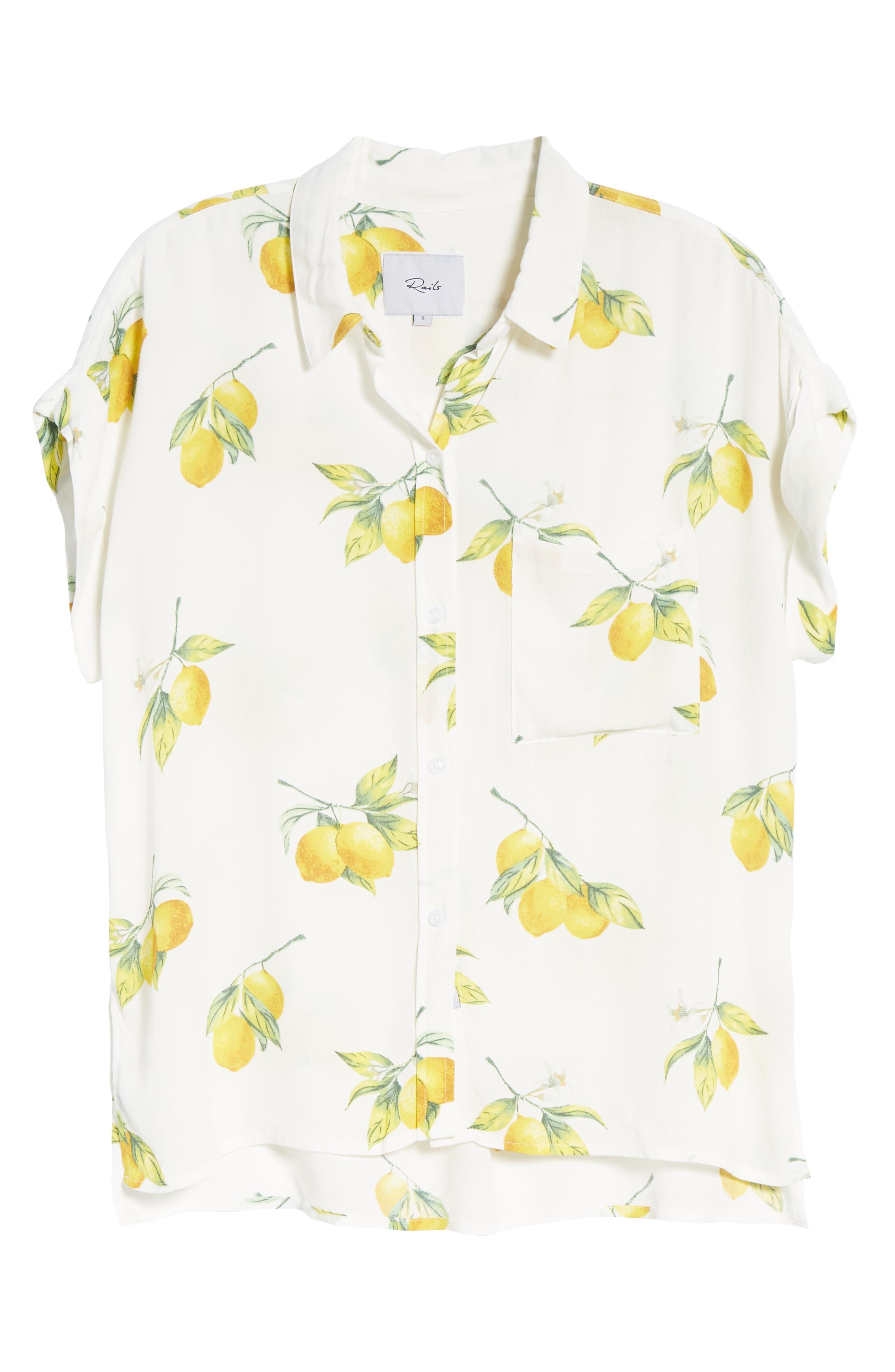 Whitney Print Shirt,                             Alternate thumbnail 7, color,                             100