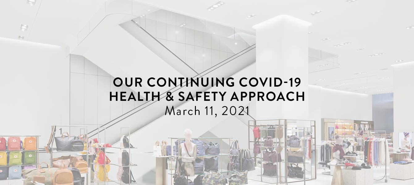 Our Continuing COVID-19 Health & Safety Approach