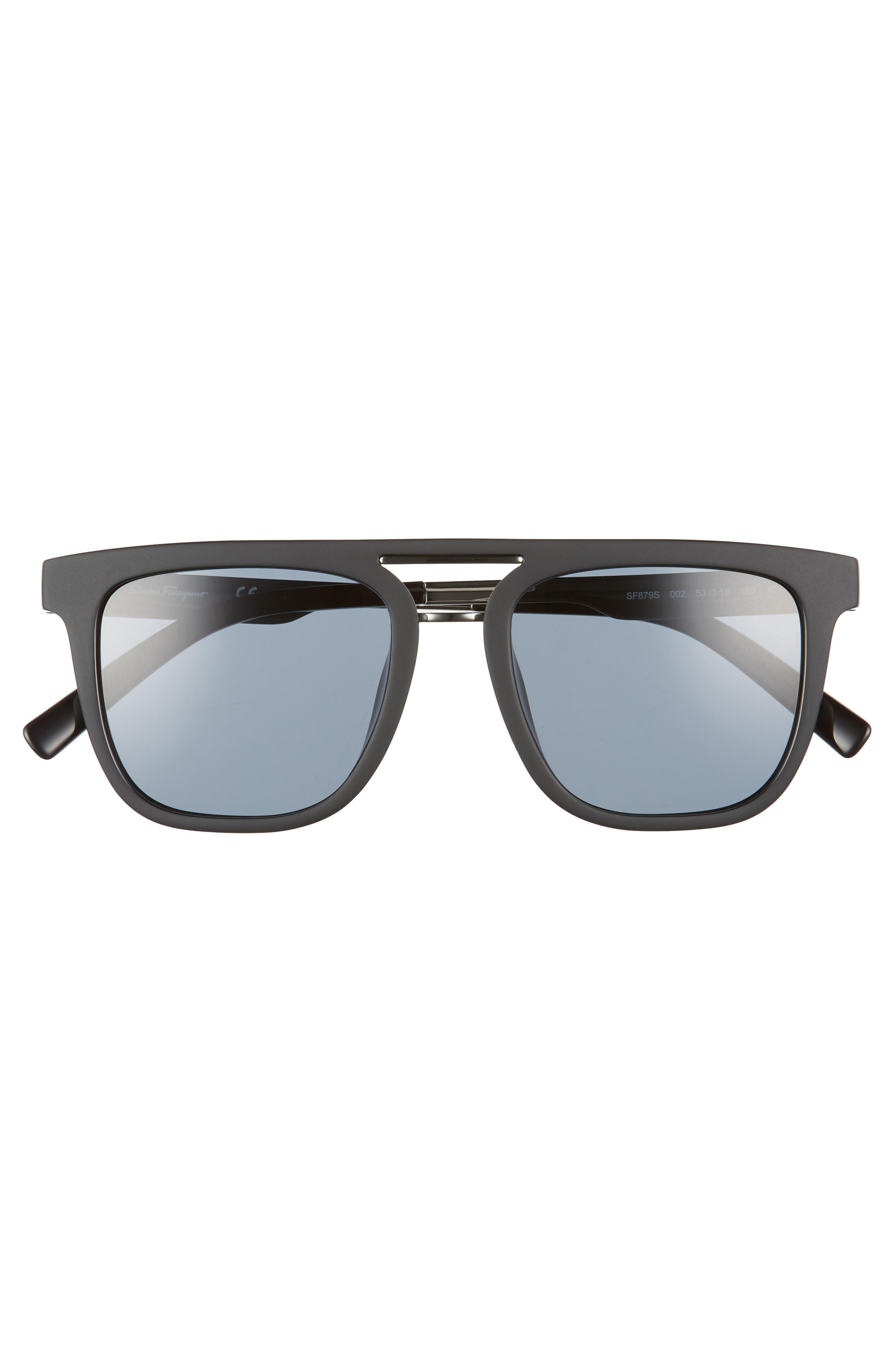 53mm Sunglasses,                             Alternate thumbnail 2, color,                             MATTE BLACK