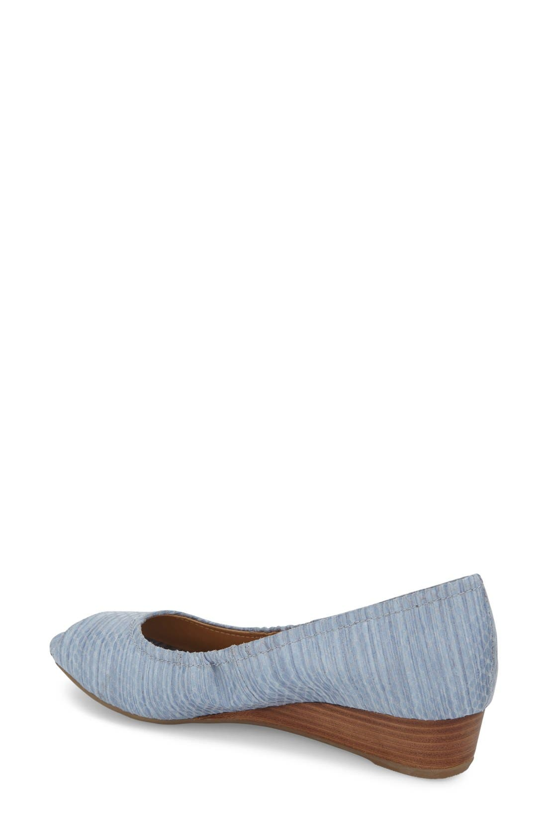 'Contrast' Peep Toe Wedge,                             Alternate thumbnail 8, color,