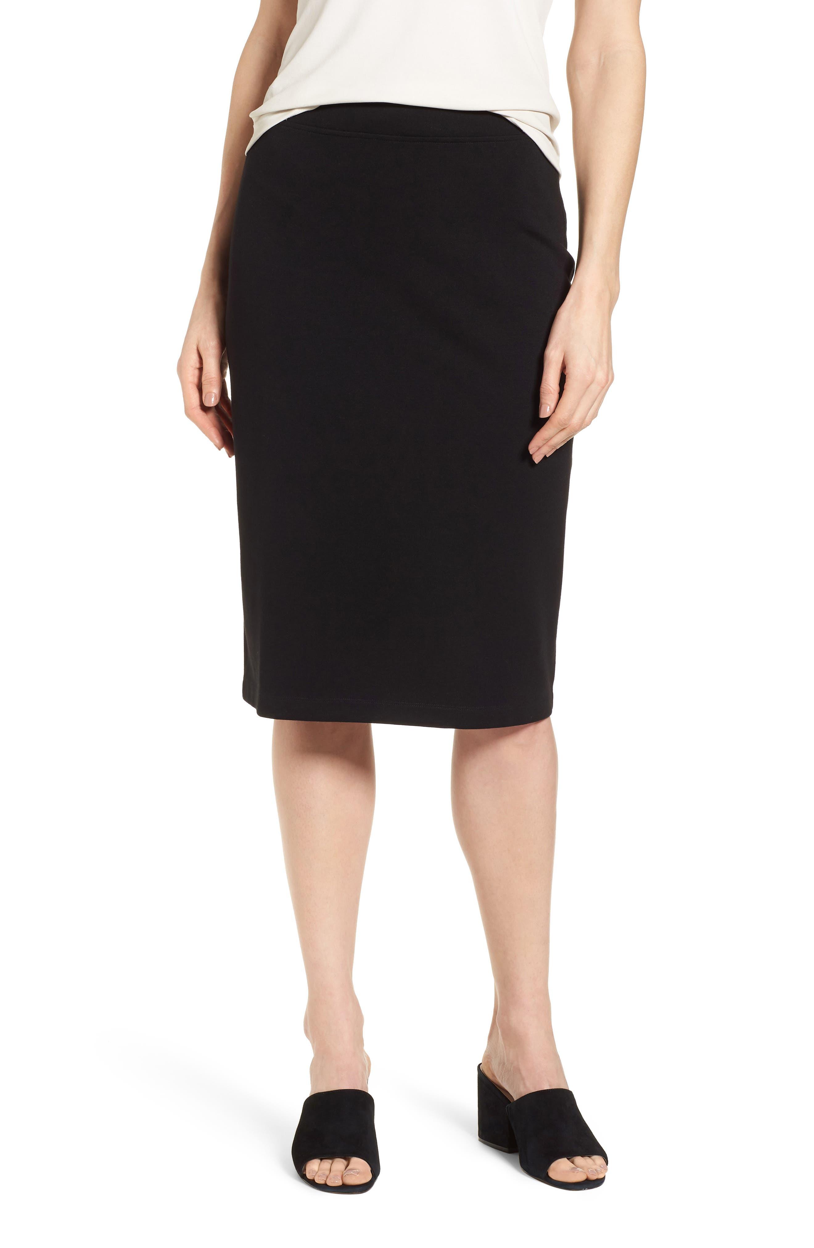 Tencel<sup>®</sup> Lyocell Blend Knit Pencil Skirt,                             Main thumbnail 1, color,