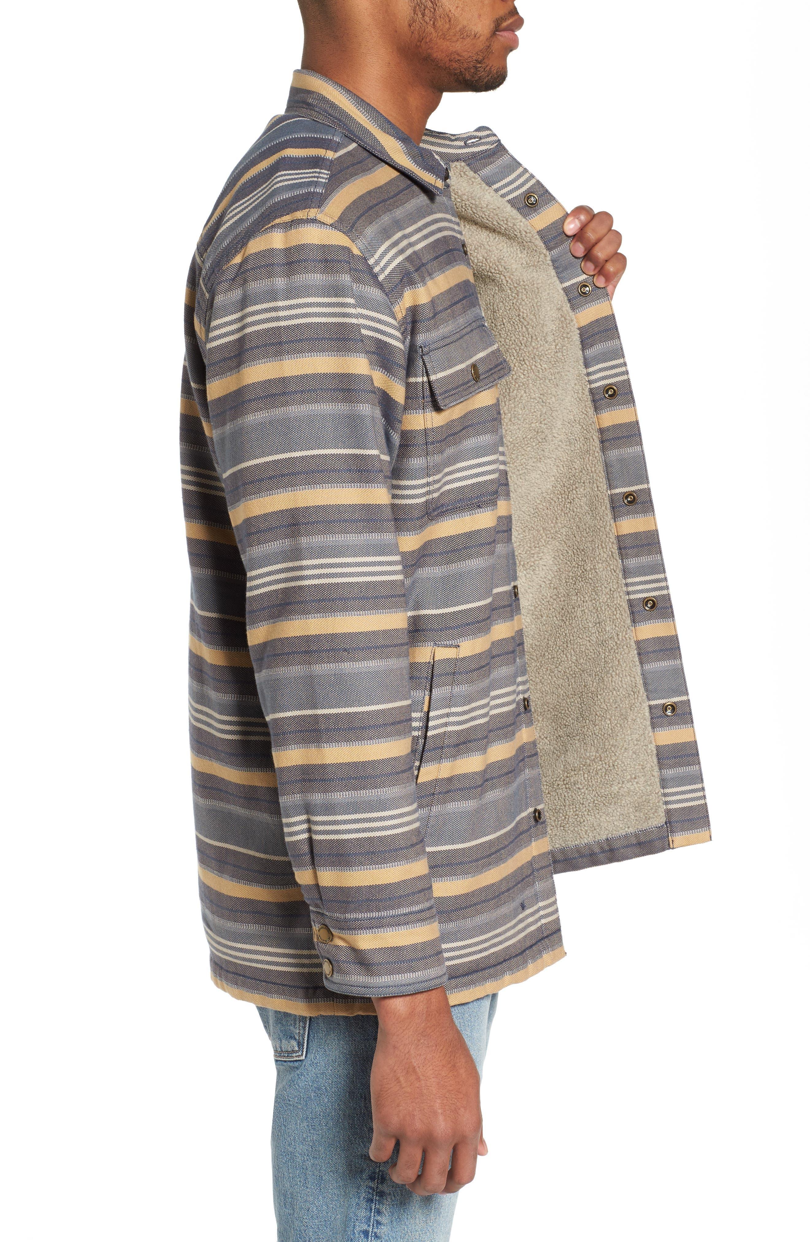 Fleece Lined Shirt Jacket,                             Alternate thumbnail 3, color,                             460